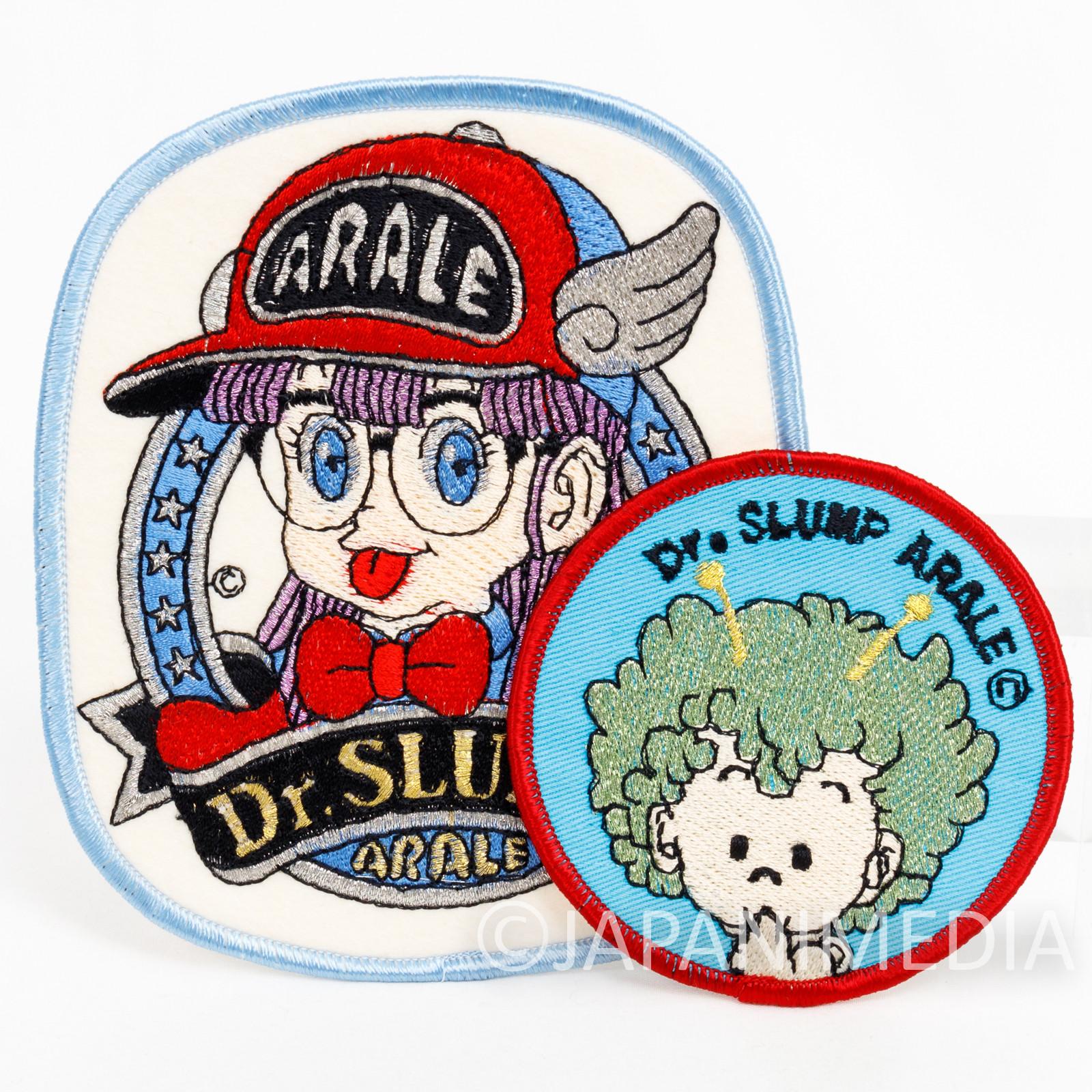 Retro Dr. Slump Arale chan Gatchan Wappen Emblem Badge 2pc Set #2 JAPAN ANIME