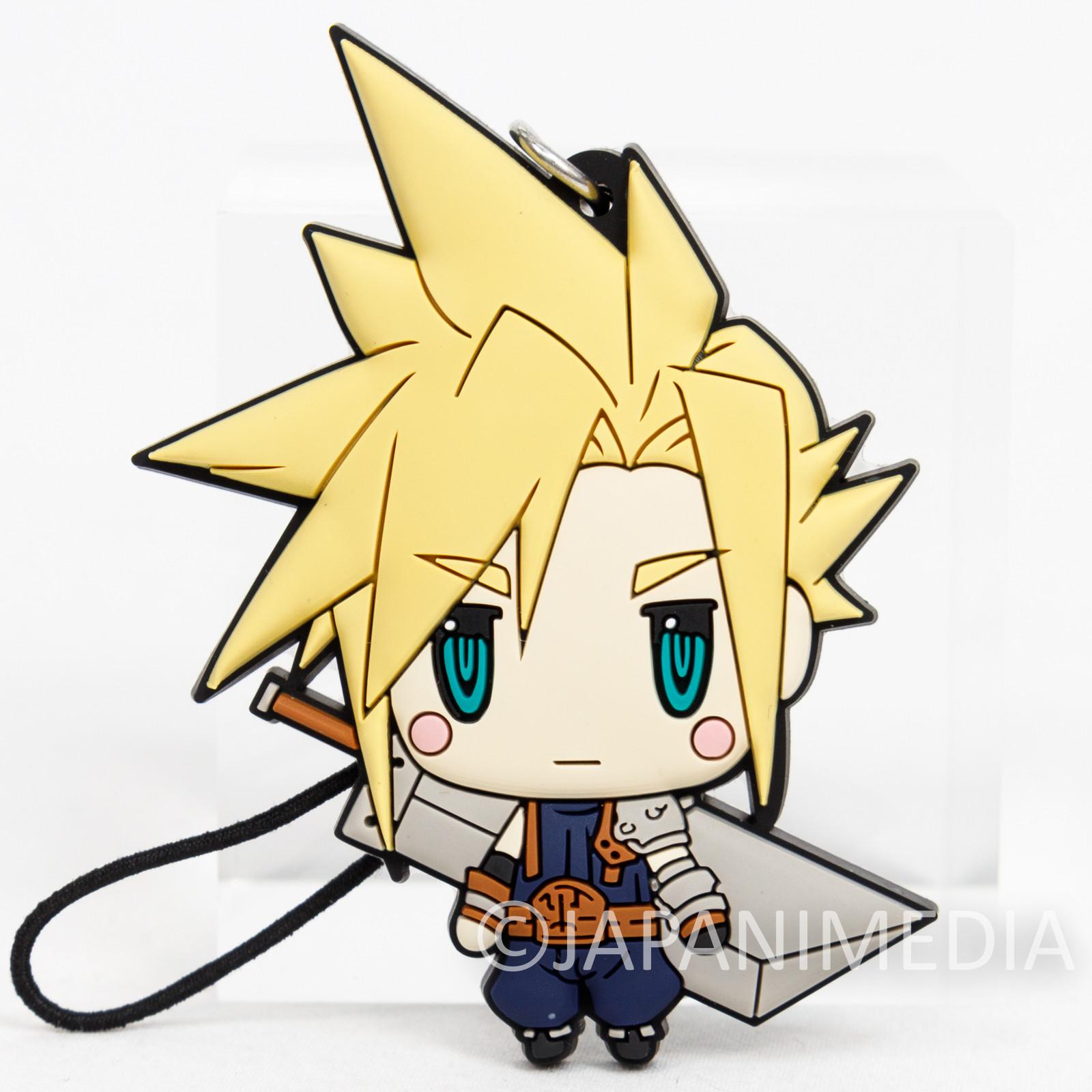 Final Fantasy Cloud Strife Mascot Rubber Strap JAPAN SQUARE ENIX