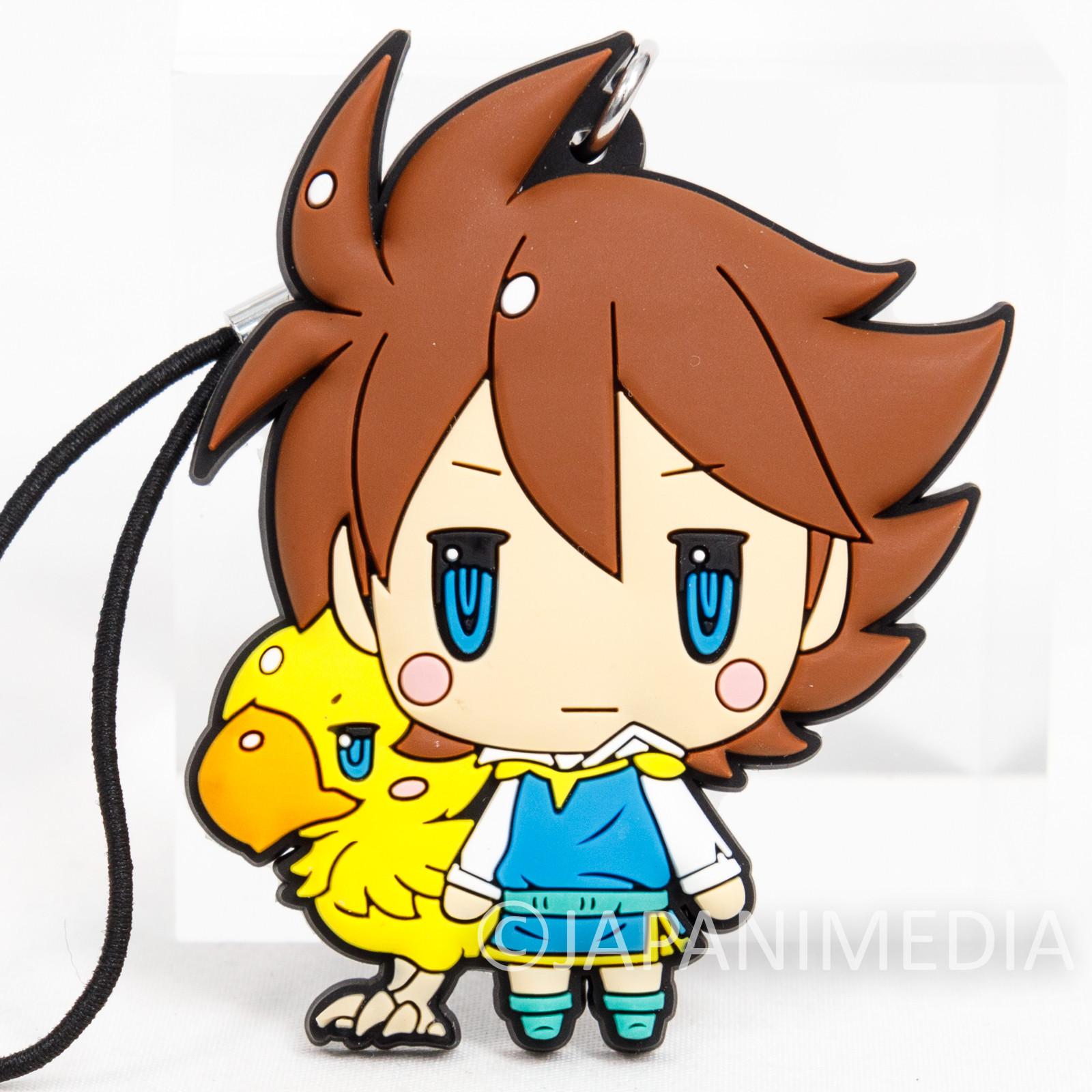 Final Fantasy Bartz Klauser Chocobo Mascot Rubber Strap JAPAN SQUARE ENIX