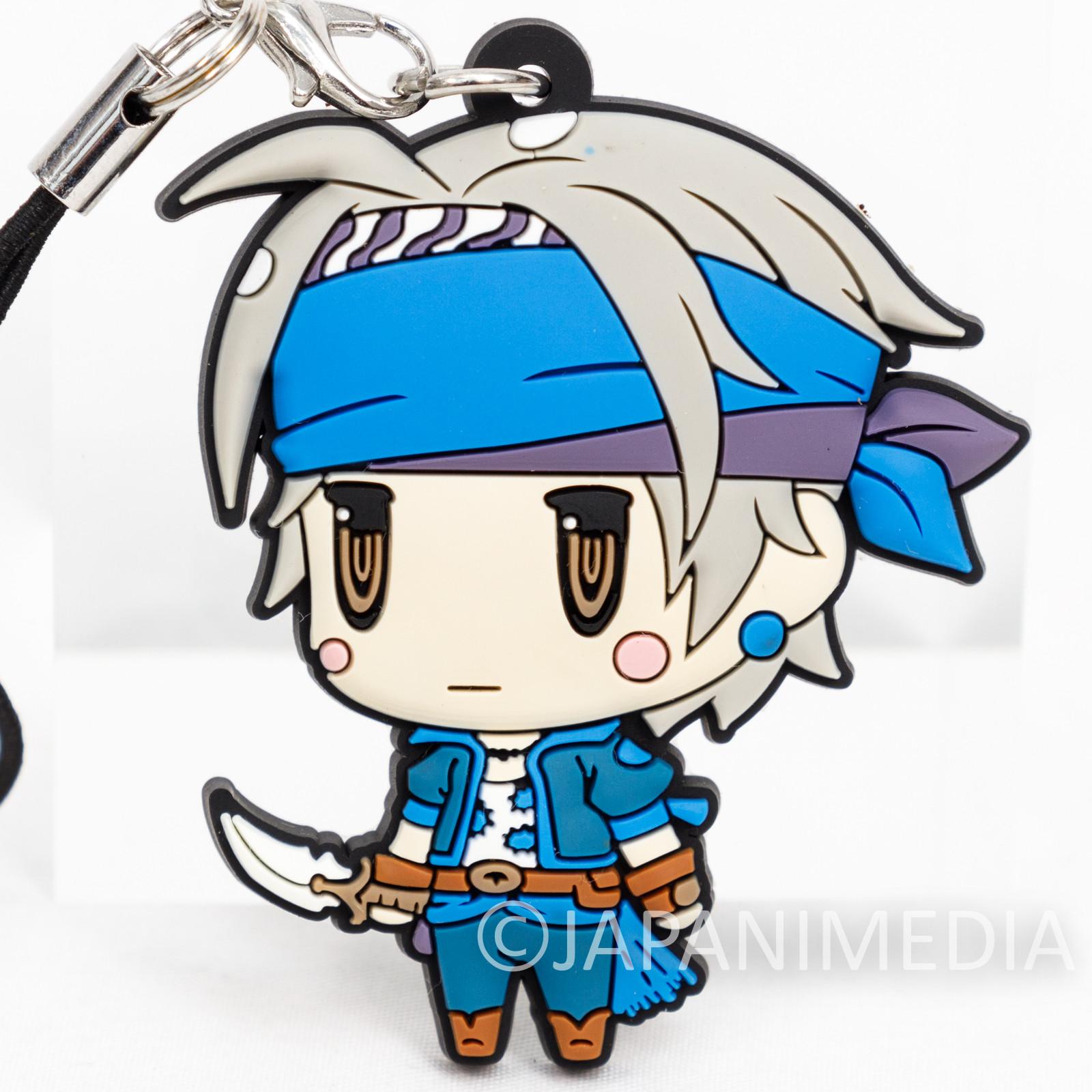Final Fantasy Locke Cole Mascot Rubber Strap JAPAN SQUARE ENIX
