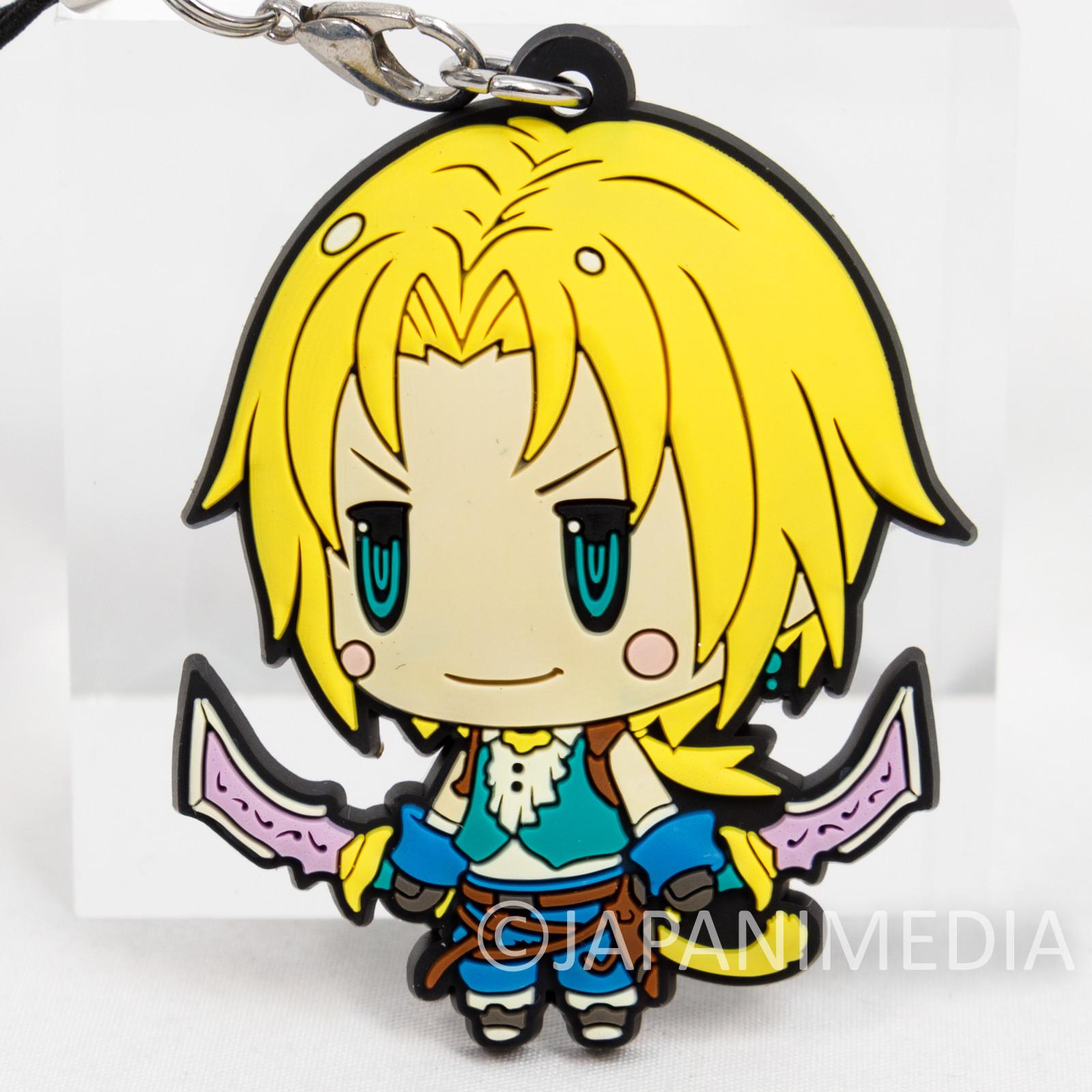 Final Fantasy Zidane Tribal Mascot Rubber Strap JAPAN SQUARE ENIX