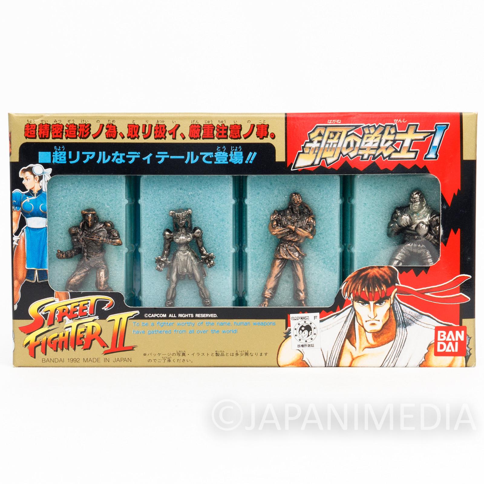 Retro Street Fighter 2 Metal Figure 4ps Set #1 Chun-Li Ryu Vega Balrog CAPCOM
