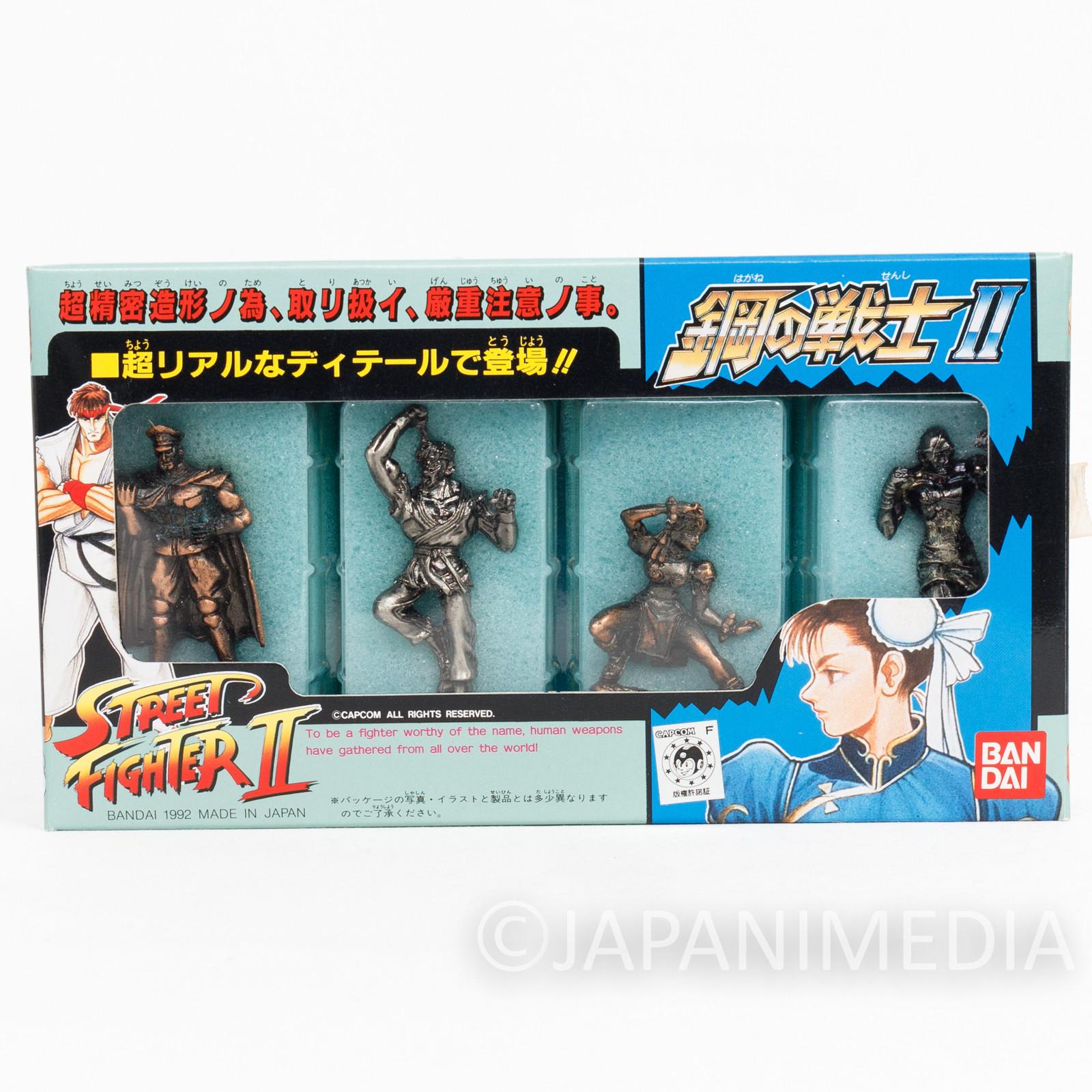 Retro Street Fighter 2 Metal Figure 4ps Set #2 Chun-Li Ryu Sagat Bison CAPCOM