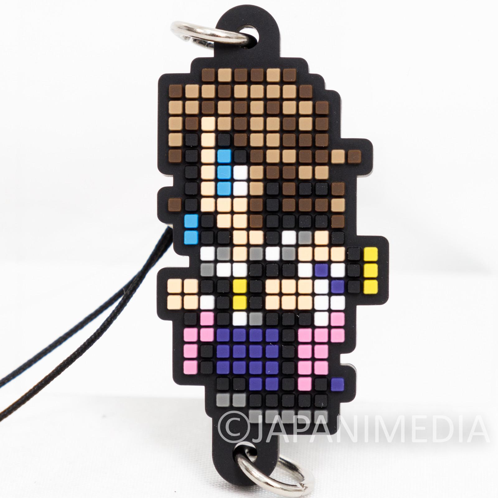 Final Fantasy Yuna Dot Design Rubber Mascot Strap Square Enix