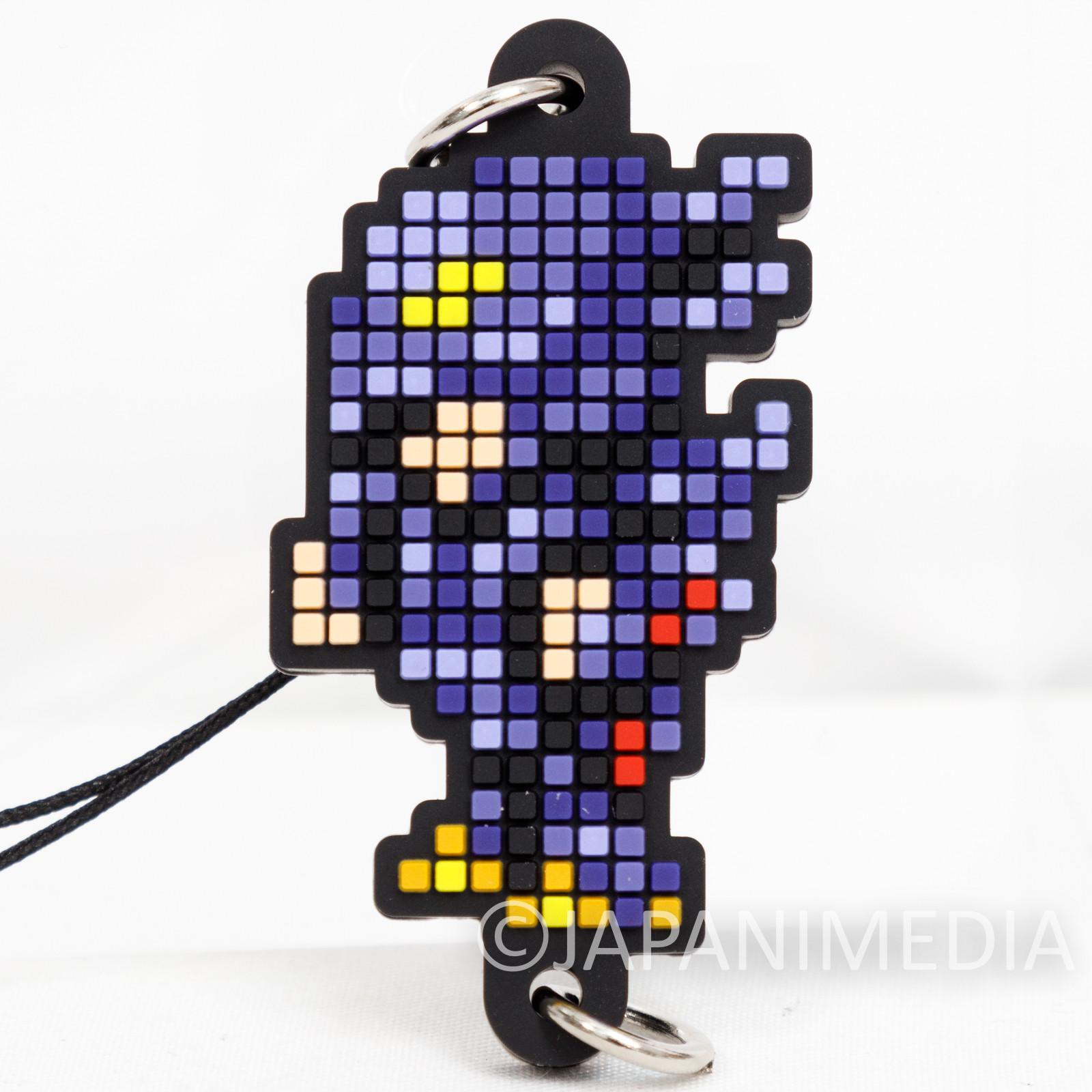 Final Fantasy Cecil Harvey Dark Knight Dot Design Rubber Mascot Strap Square Enix
