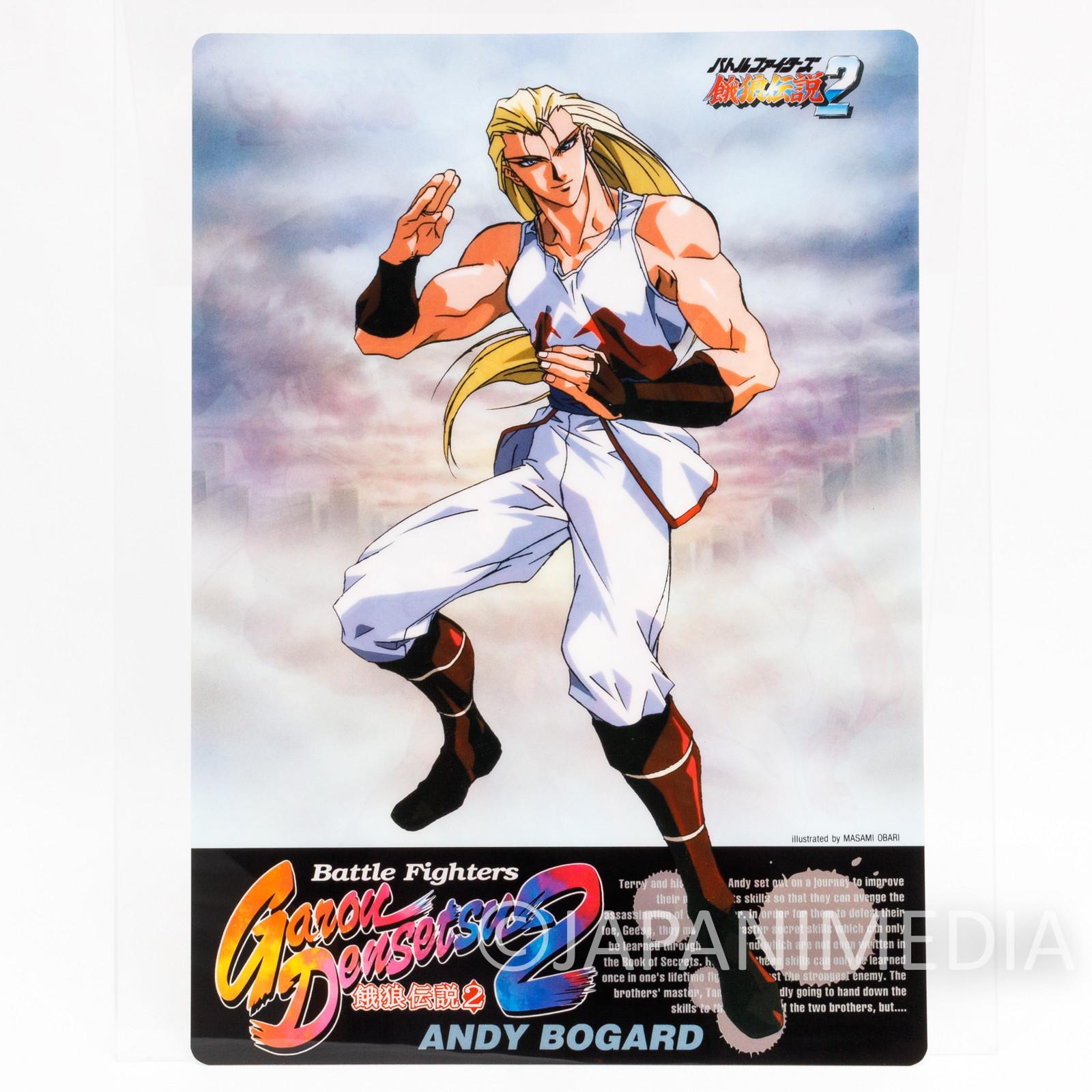 Fatal Fury / King of Fighters Andy Bogard Plastic Pencil Board Pad Shitajiki SNK 2