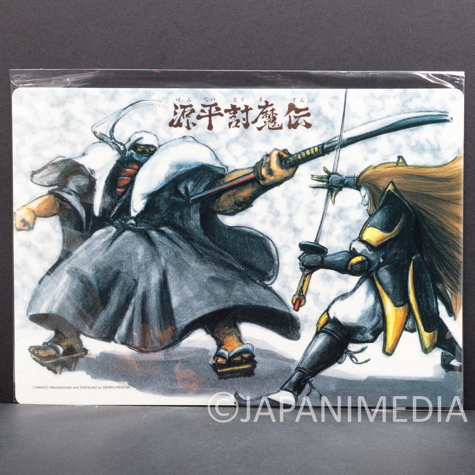 RARE!! Genpei Toma Den Kagekiyo vs Benkei Plastic Pencil Board Shitajiki NAMCO
