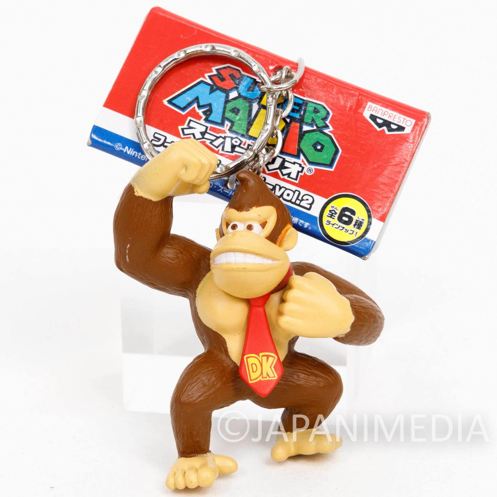 Donkey Kong Figure Keychain Nintendo Super Mario JAPAN FAMICOM SNES