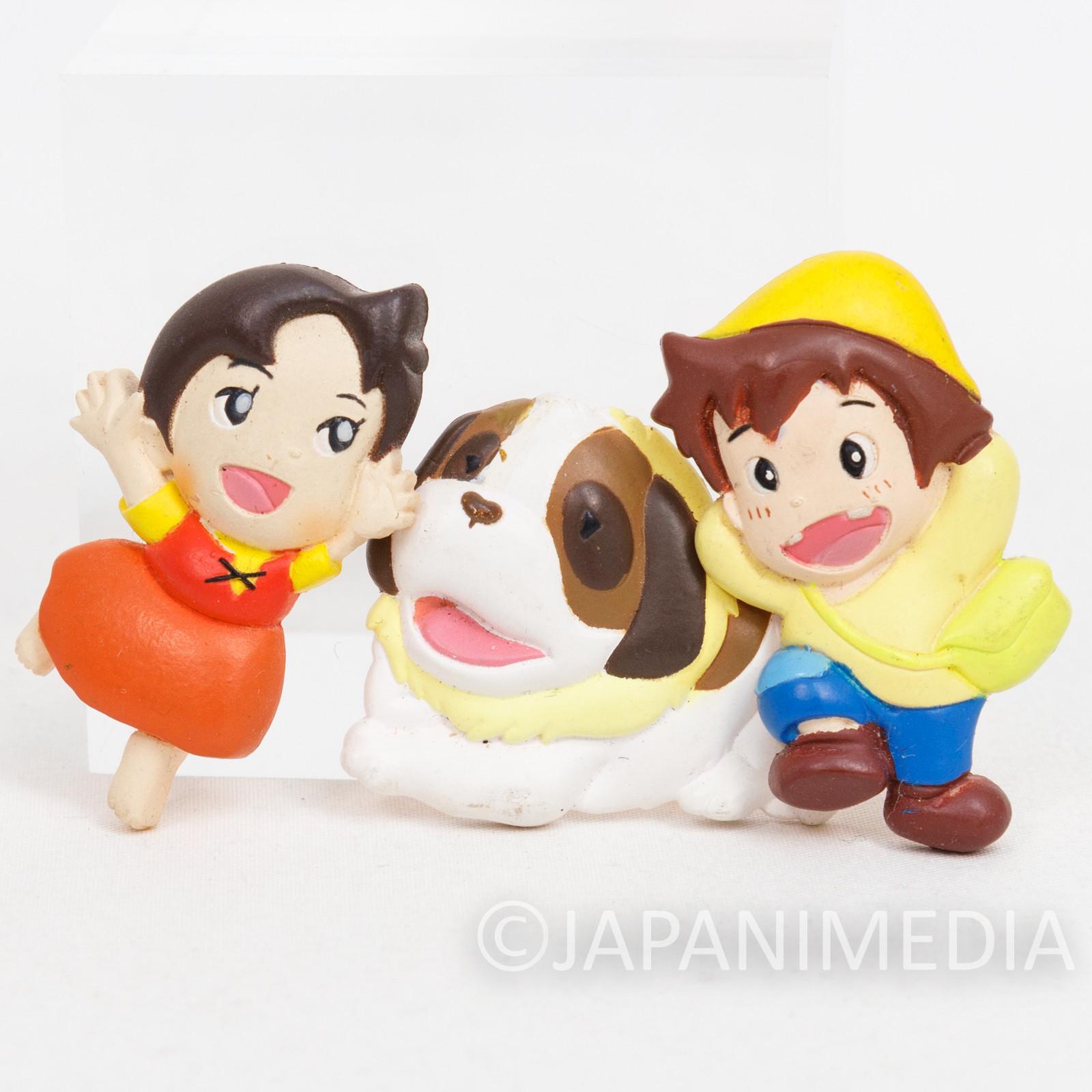 Heidi Girl of the Alps Mascot Magnet 3pc Set Heidi/ Peter/ Josef JAPAN ANIME