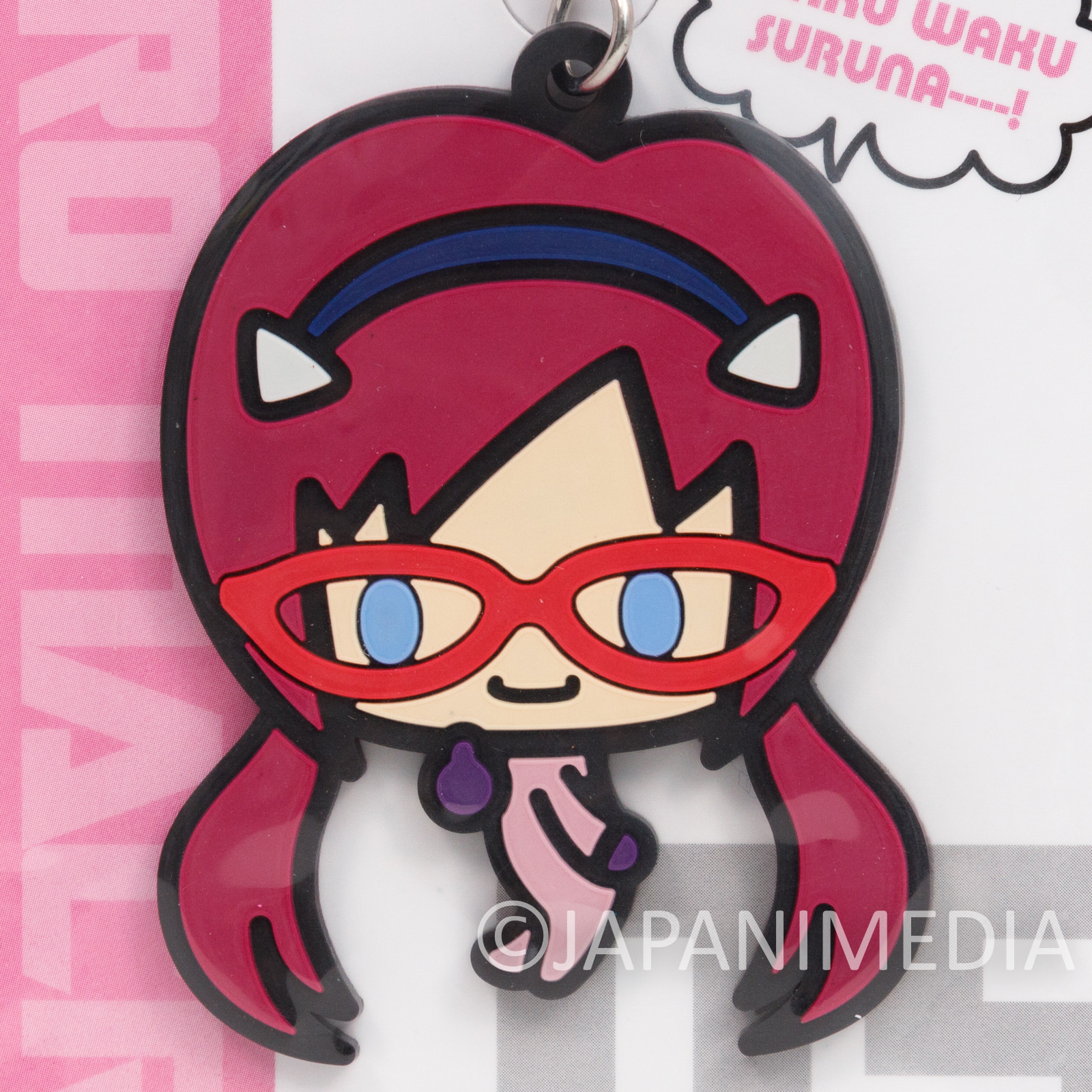 Evangelion Mari Makinami Illustrious Mascot Rubber Strap EVA Micro Macro JAPAN