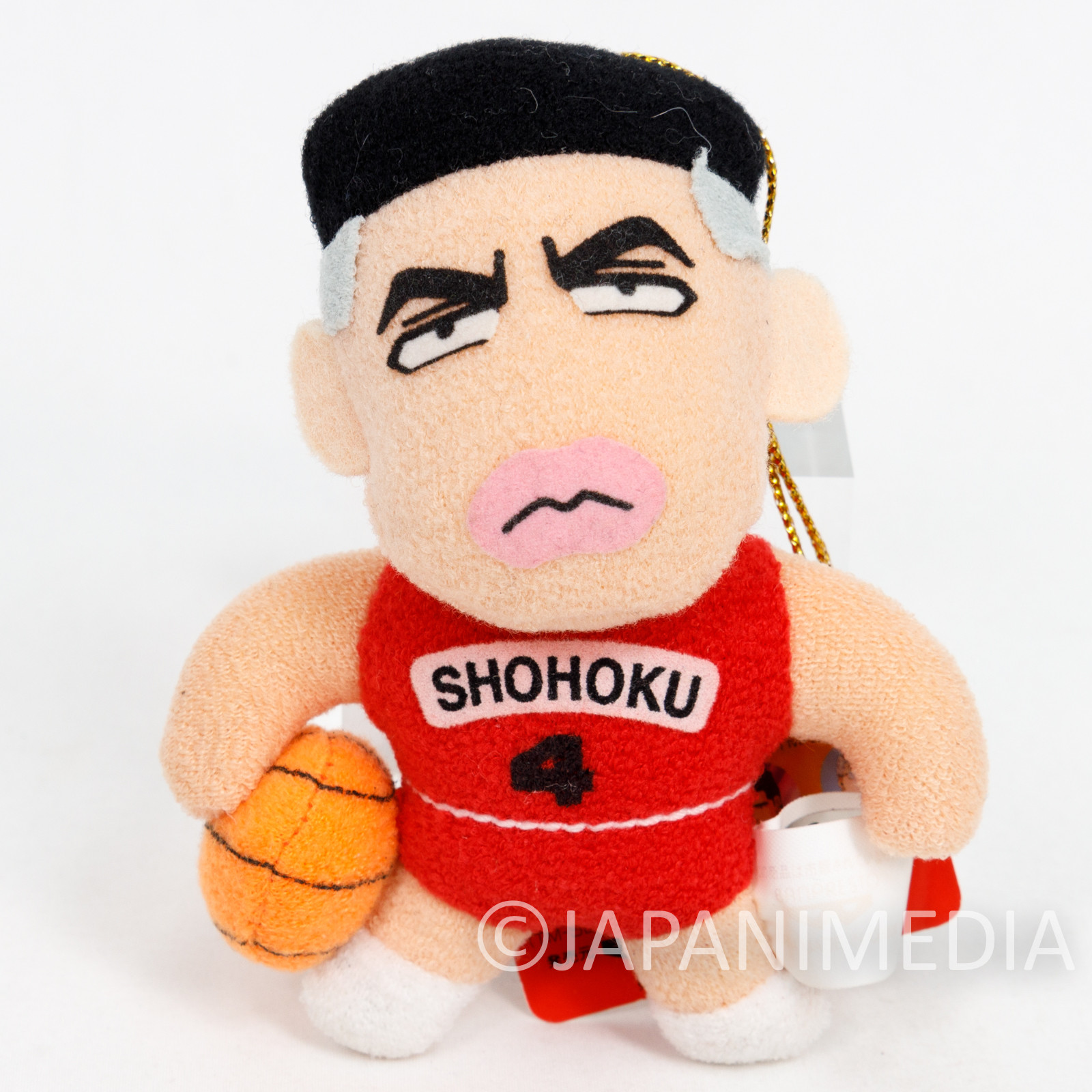 SLAM DUNK Takenori Akagi #4 Plush Doll Strap JAPAN ANIME MANGA