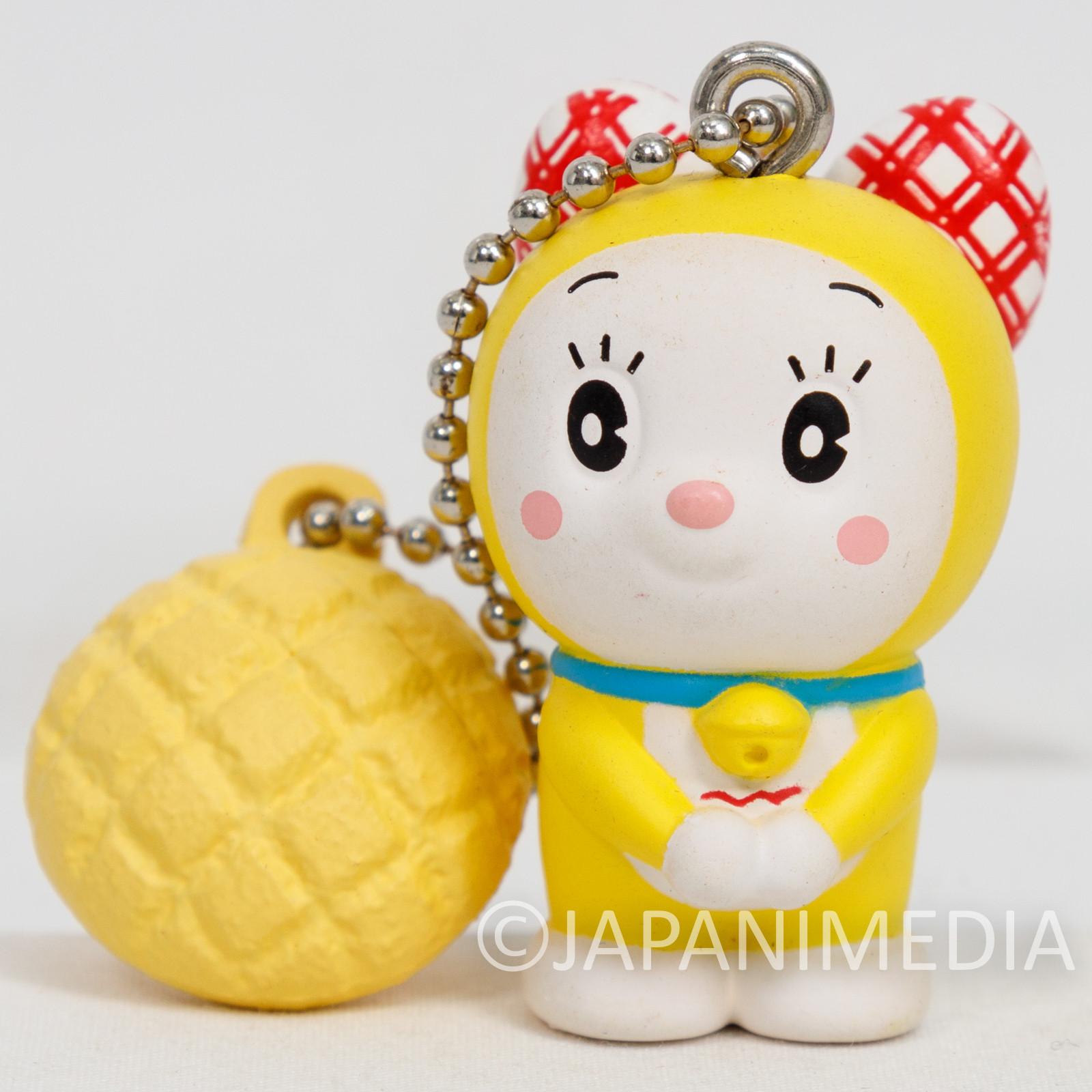 Draemon Dorami with Melon Bread Figure Mascot Ballchain Fujiko F Fujio JAPAN
