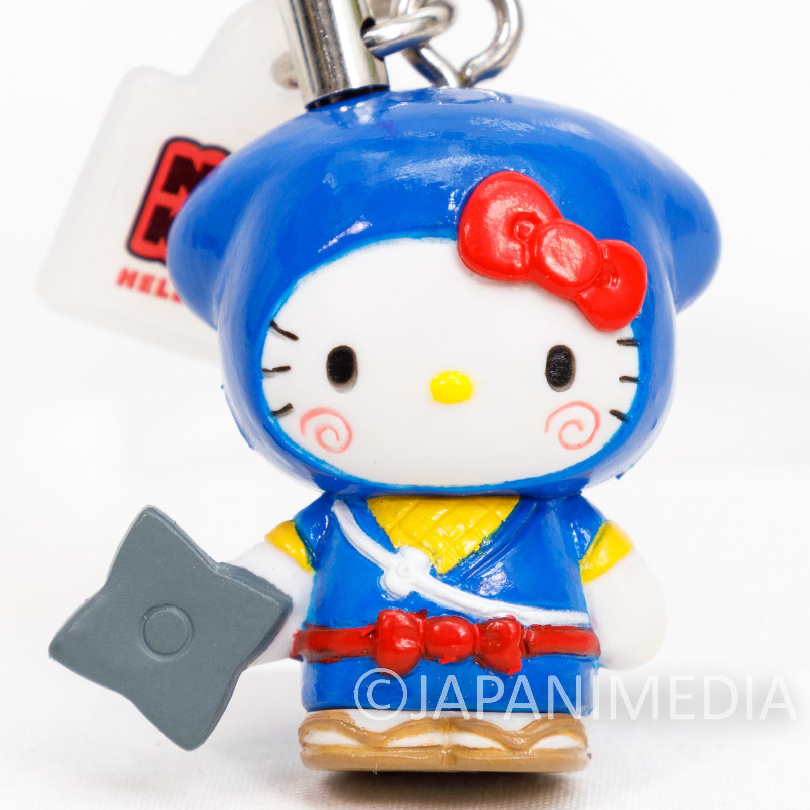 RARE! Ninja Hattori-kun x Hello Kitty Figure Strap JAPAN ANIME