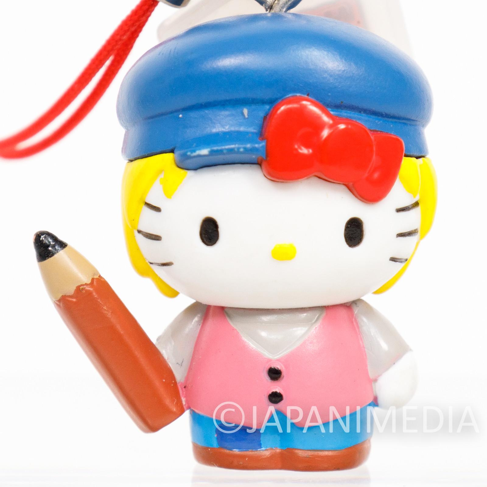 RARE Dog of Flanders Nello x Hello Kitty Figure Strap World Masterpiece Theater