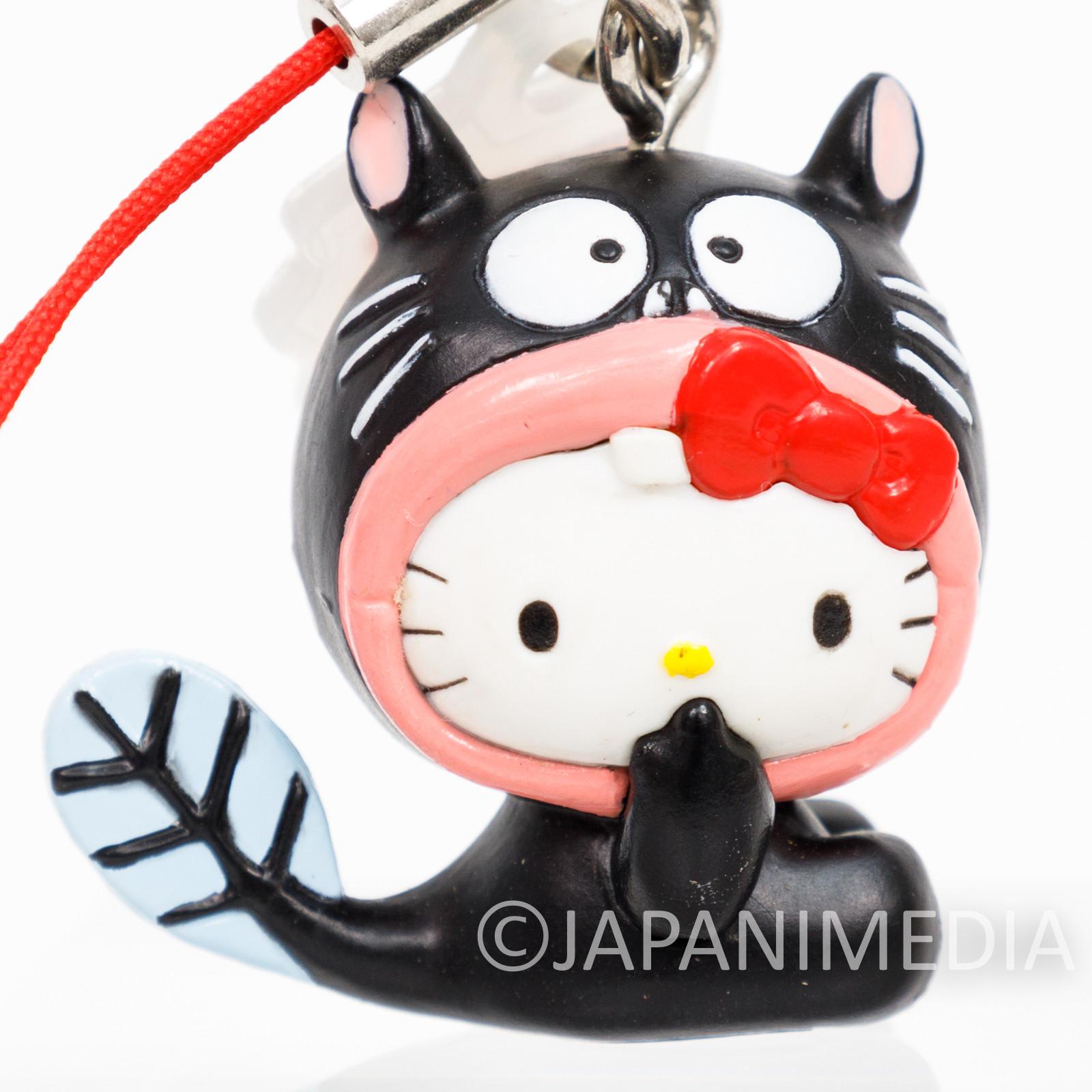 RARE! Tensai Bakabon Unagi Inu x Hello Kitty Figure Strap Fujio Akatsuka