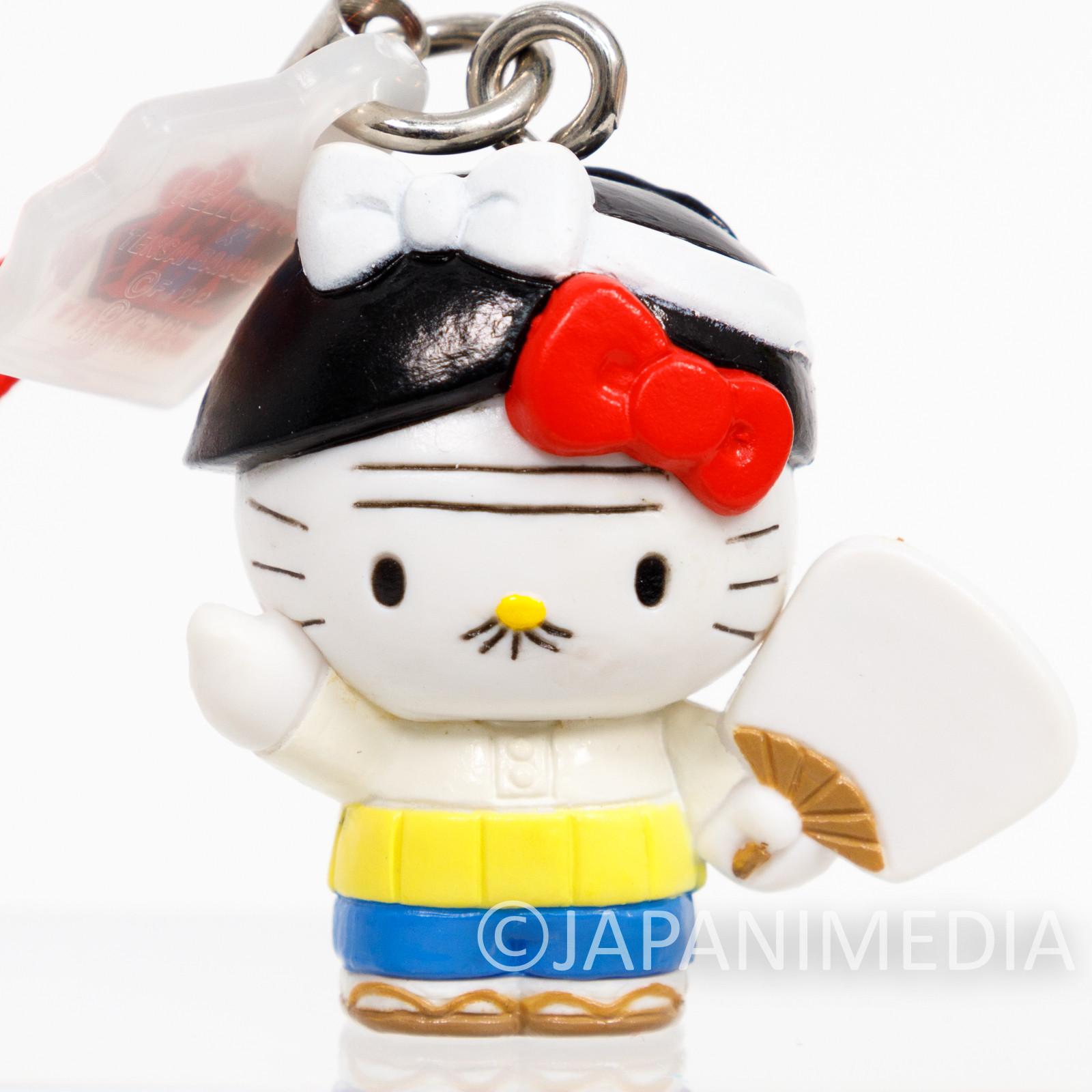 RARE! Tensai Bakabon Papa x Hello Kitty Figure Strap Fujio Akatsuka