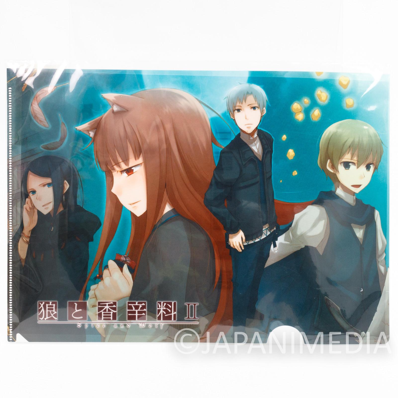 Spice and Wolf II Holo Clear File Folder Okami to Koushinryou JAPAN ANIME