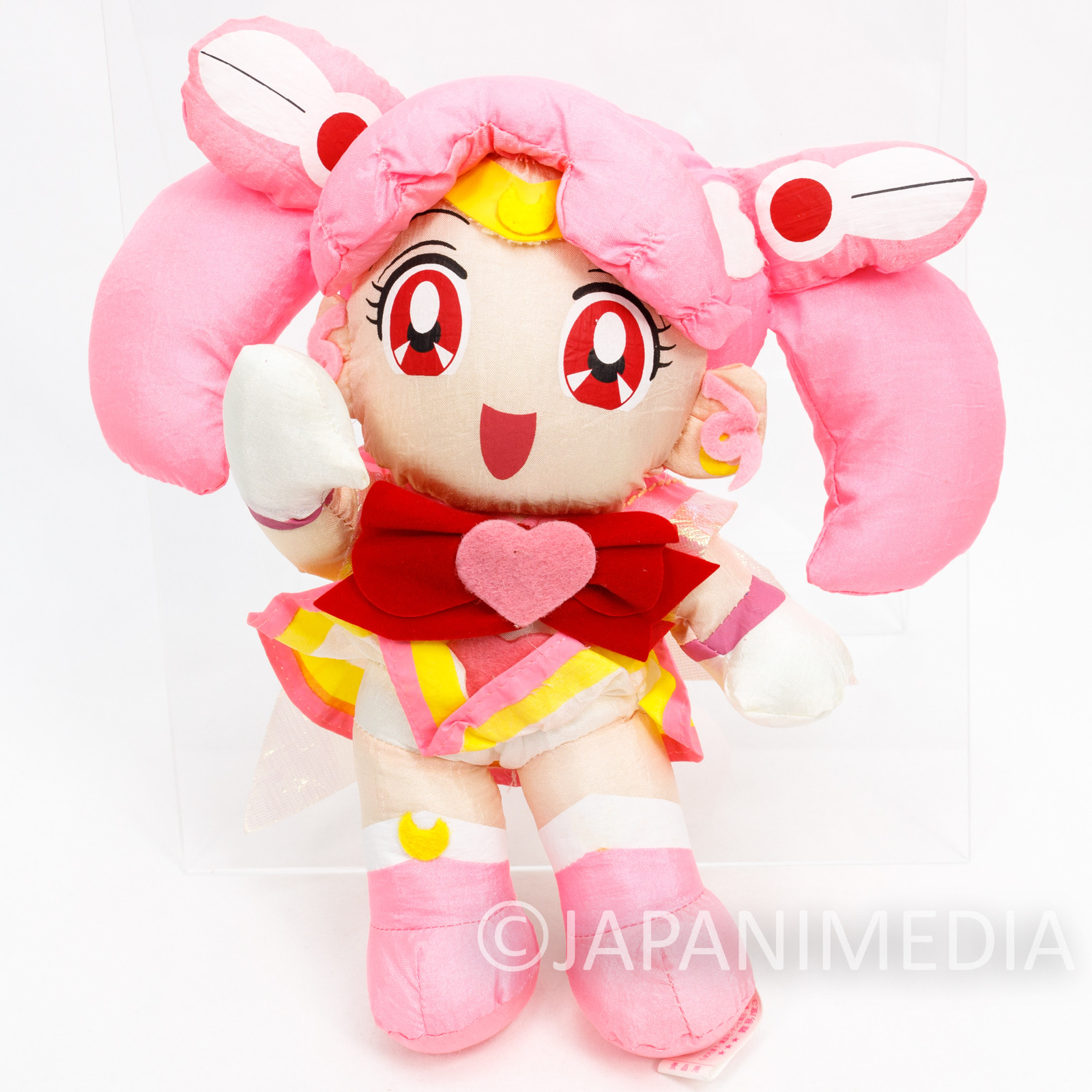 Sailor Moon Super S Sailor Chibi Moon (Chibiusa) Taffeta Plush Doll JAPAN