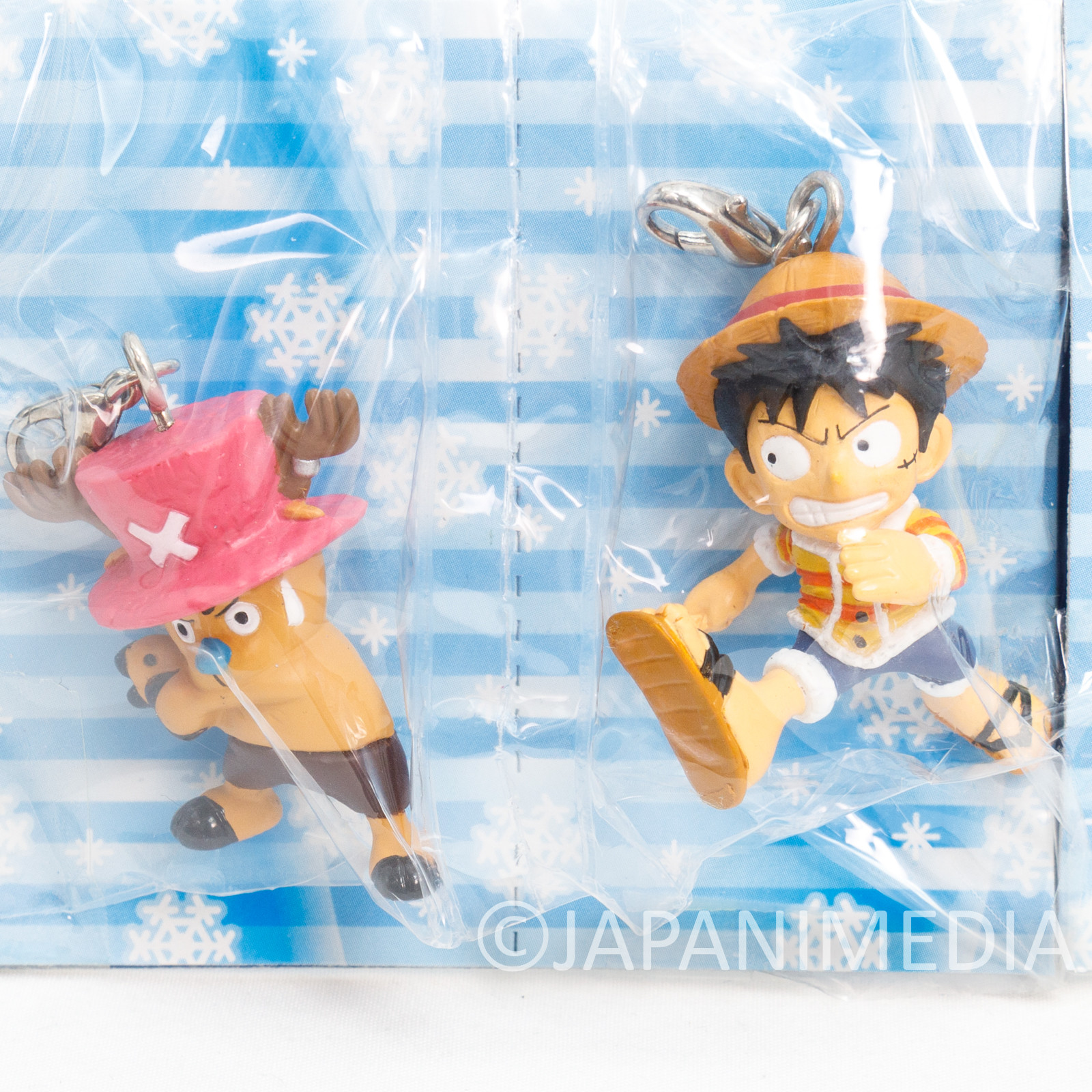 One Piece Luffy & Chopper Figure Mascot Charm Banpresto JAPAN