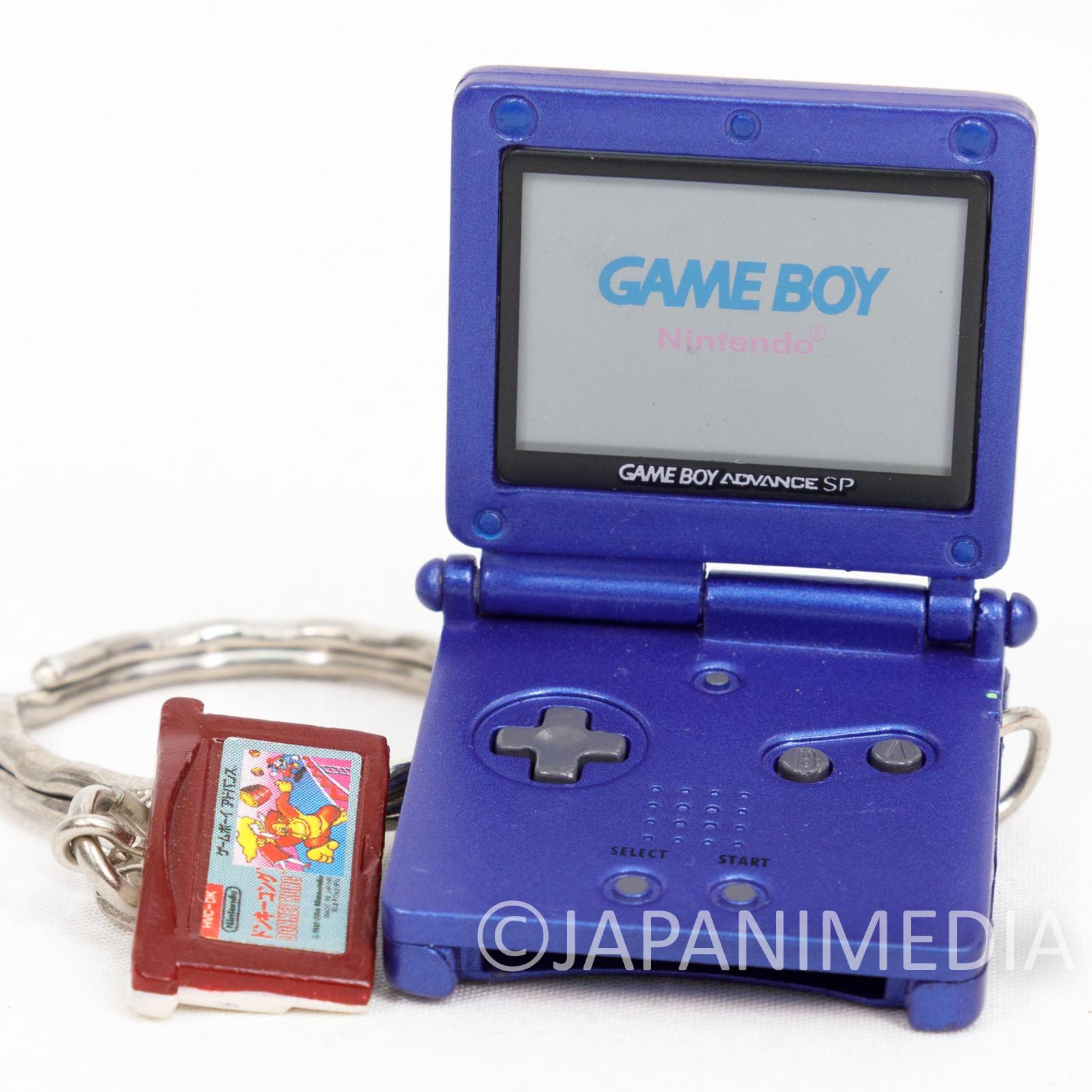 Nintendo Game Miniature Figure Key Chain Game Boy Advance SP & Donkey Kong