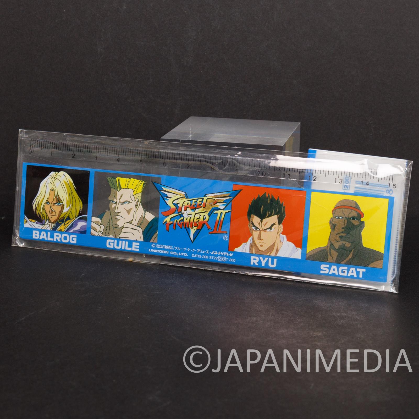 Street Fighter 2 Animation Ruler 15cm RYU / GUILE / SAGAT / VEGA (BALROG)