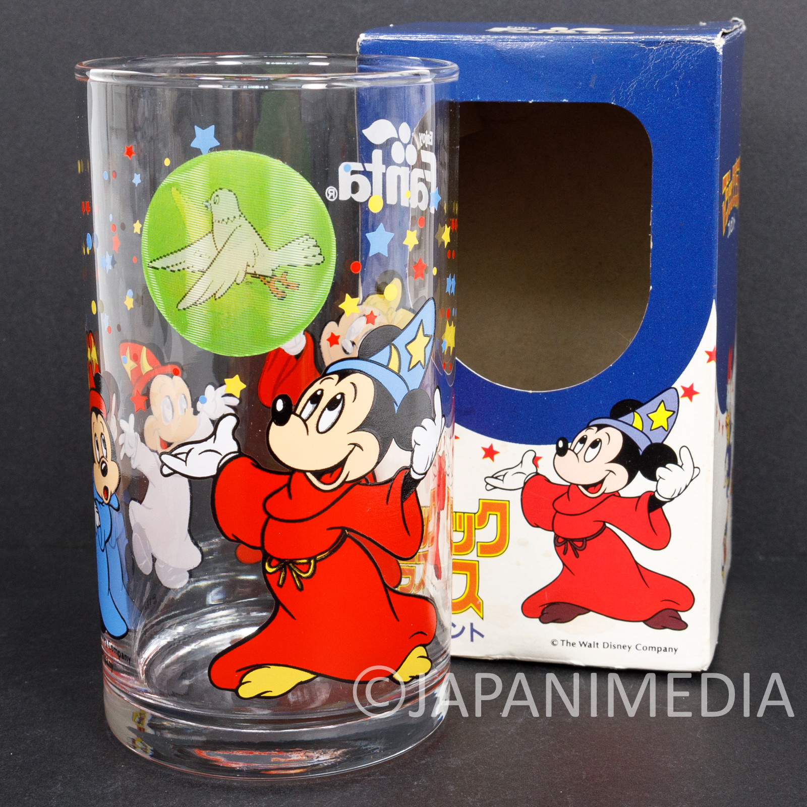 Retro Disney Fantasia Mickey Mouse Glass Coca-Cola FANTA JAPAN