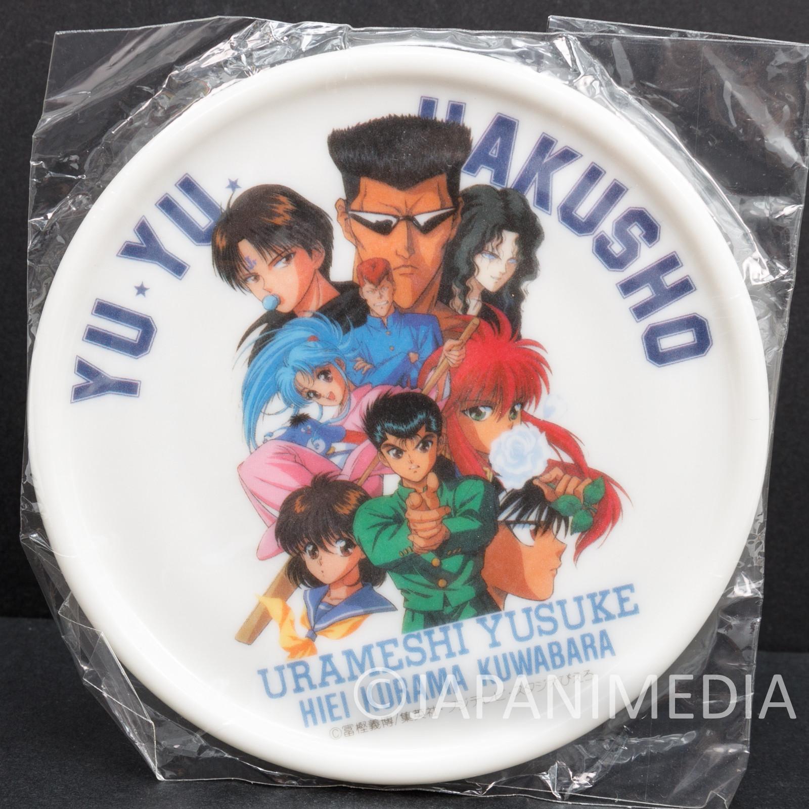 Retro Yu Yu Hakusho Plastic Coaster Yusuke Kuwabara Hiei Kurama JAPAN