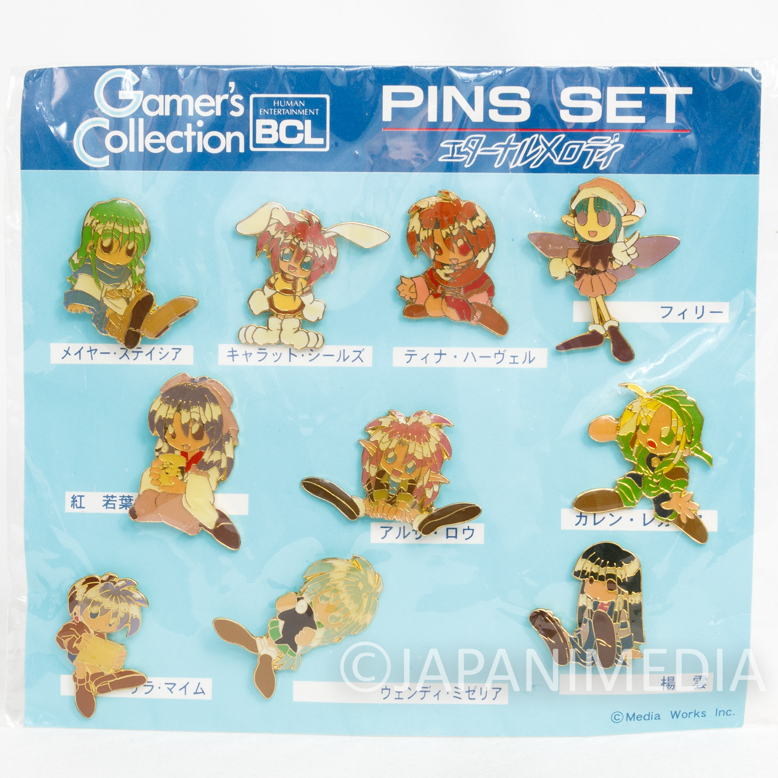 Eternal Melody Metal Pins 10pc Set Gamer's Collection Media Works