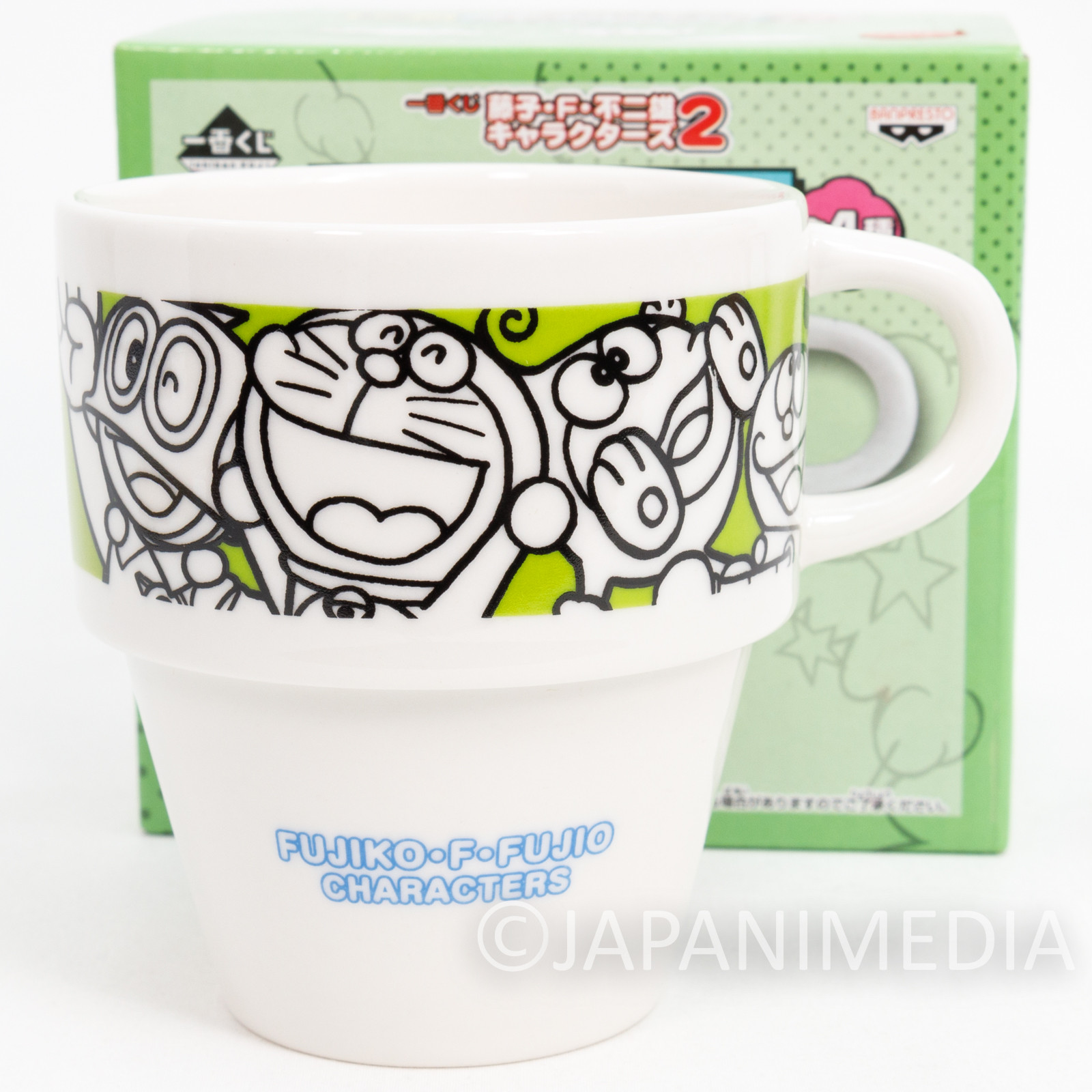 Fujiko F Fujio Characters Stacking Mug Cup Doraemon Perman Korosuke JAPAN