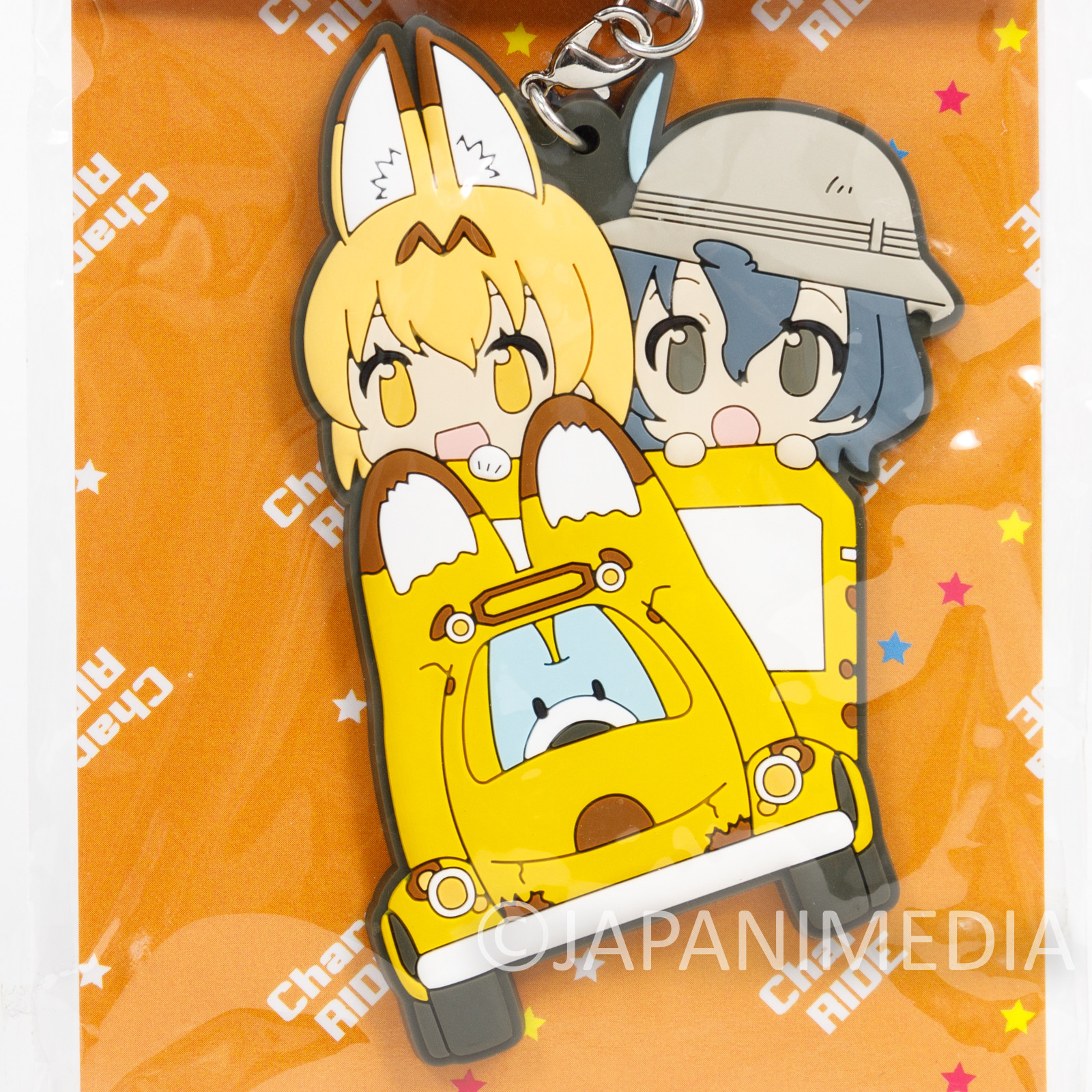 Kemono Friends Kaban & Serval Chara RIDE Rubber Mascot Strap JAPAN ANIME