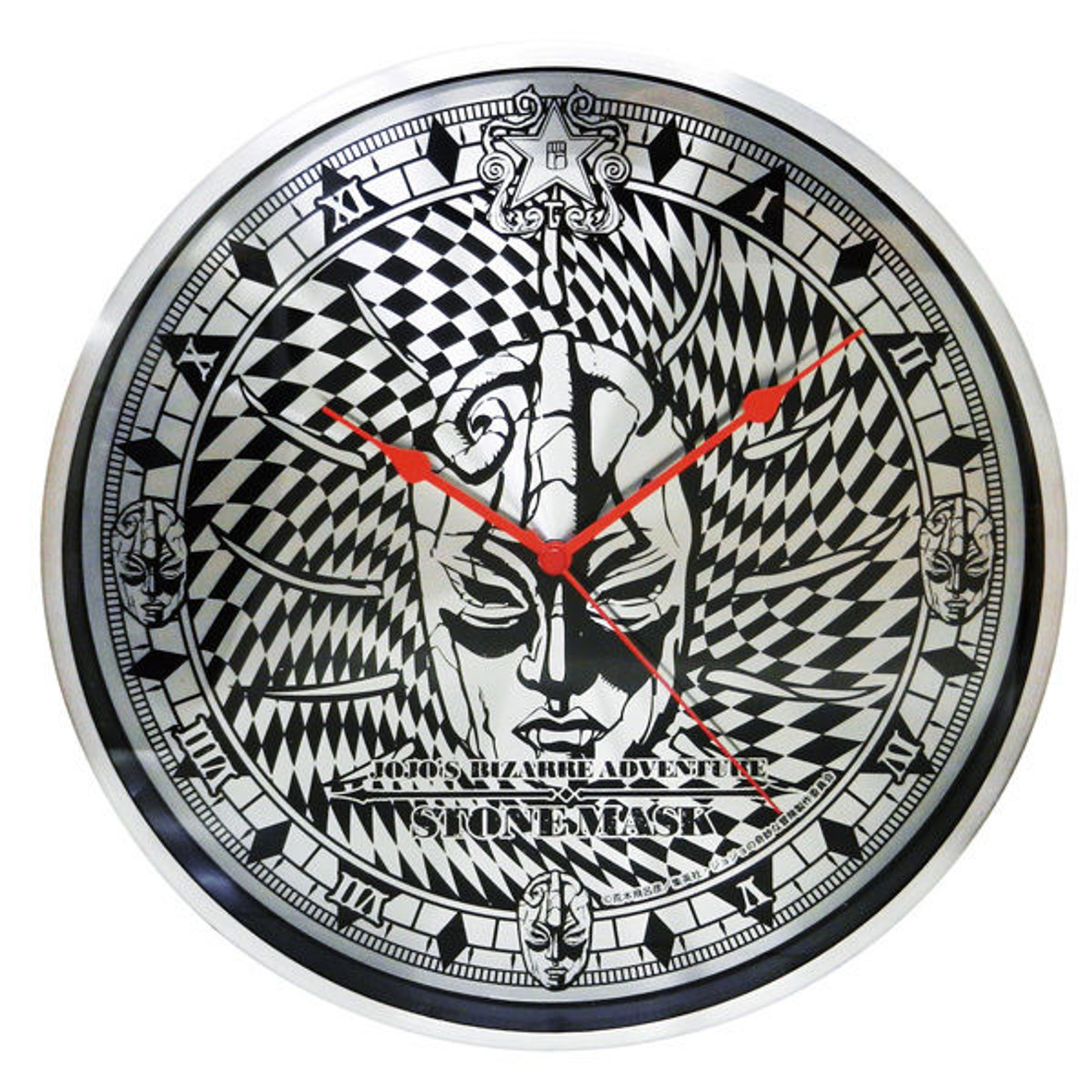 JoJo's Bizarre Adventure Full Metal Wall Clock Part.2 Stone Mask JAPAN ANIME