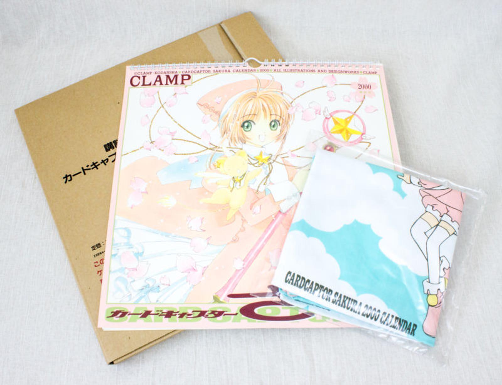 Cardcaptor Sakura Kodansha Calendar 2000 + Drawstring Bag CLAMP JAPAN ANIME MANGA