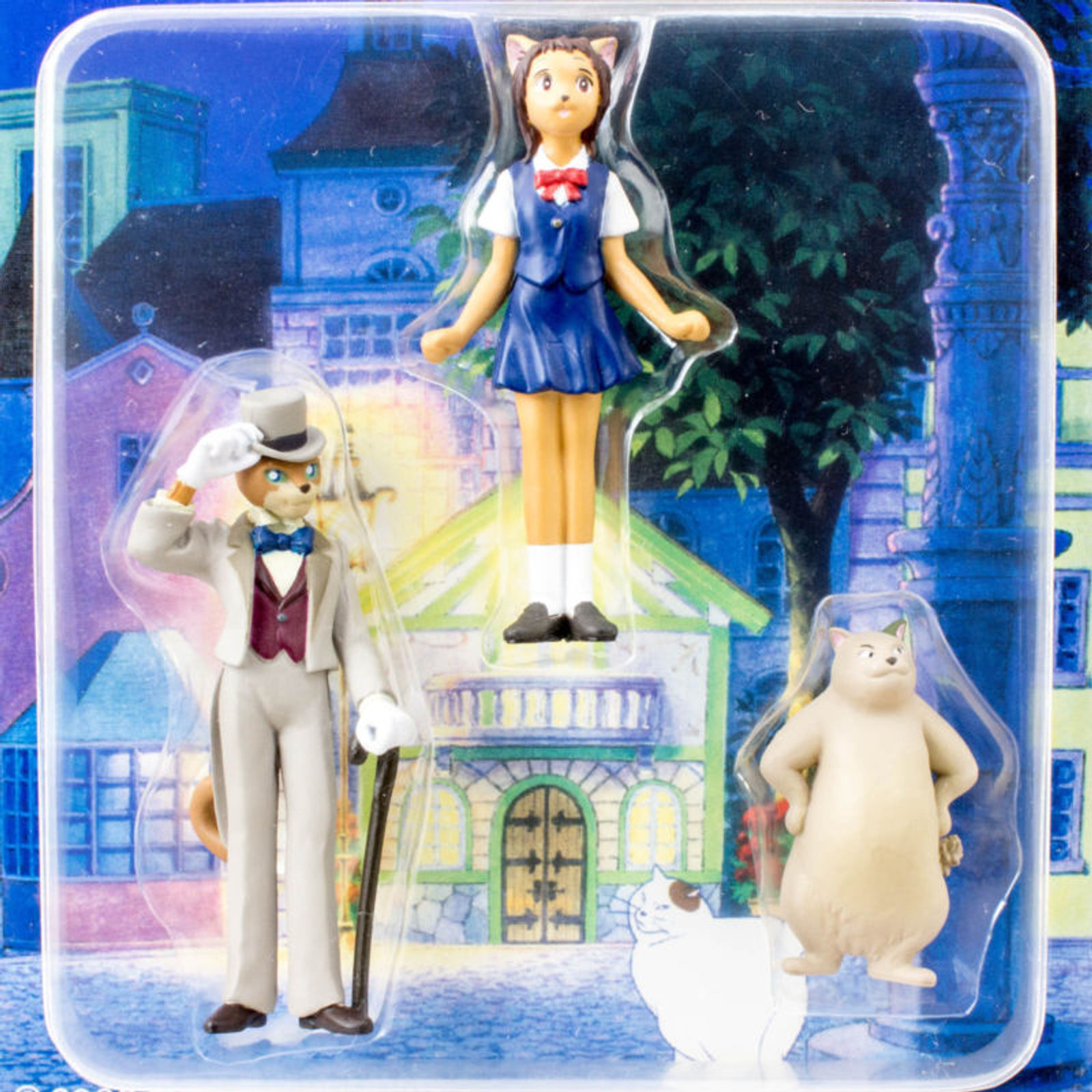 The Cat Returns Mini Figure 3pc Set Haru Baron Muta Cominica Ghibli JAPAN