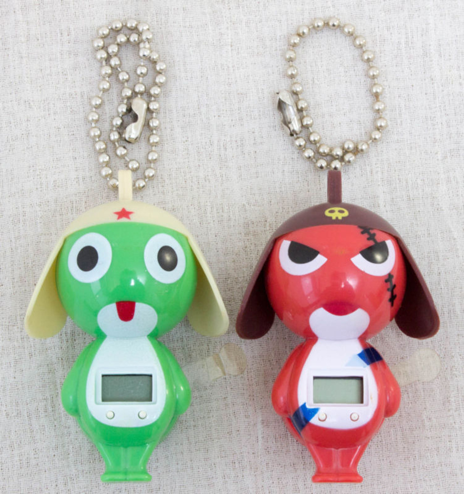 Sgt. Frog Keroro Gunso Keroro & Geroro Figure type Watch w/ Ball chains JAPAN ANIME MANGA