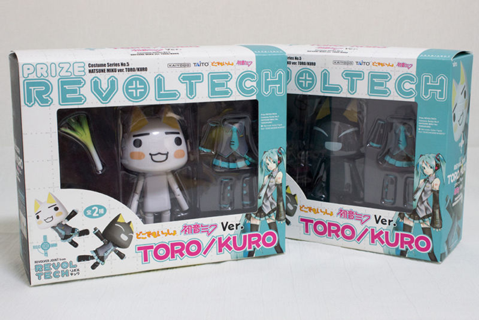 Sony Cat TORO + KURO Revoltech Miku Hatsune ver. Figure Costume 5 Doko Demo Issyo JAPAN ANIME