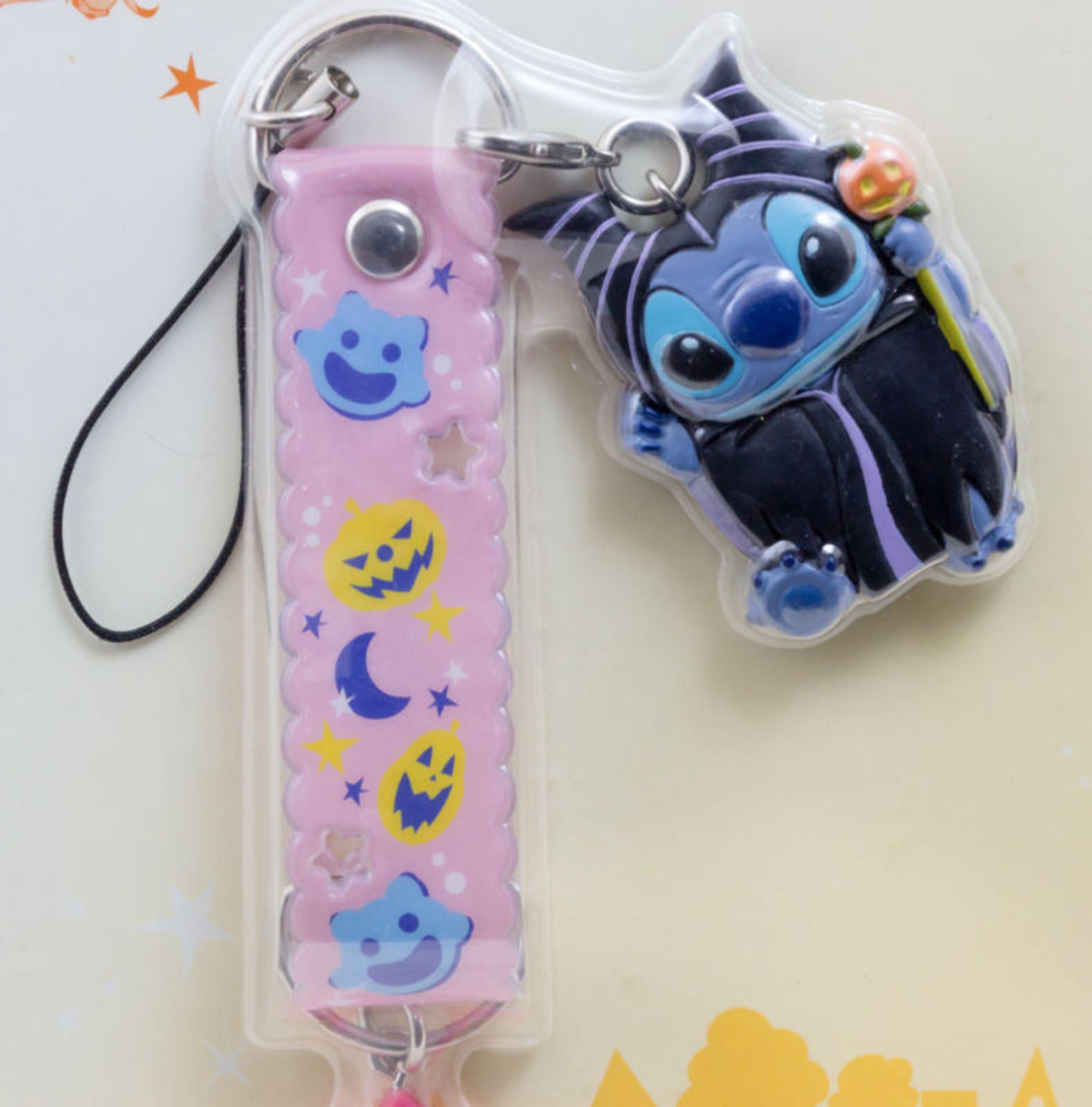 Disney Stitch Mobile Strap Halloween Ver. Mascot Figure Banpresto 3 JAPAN ANIME