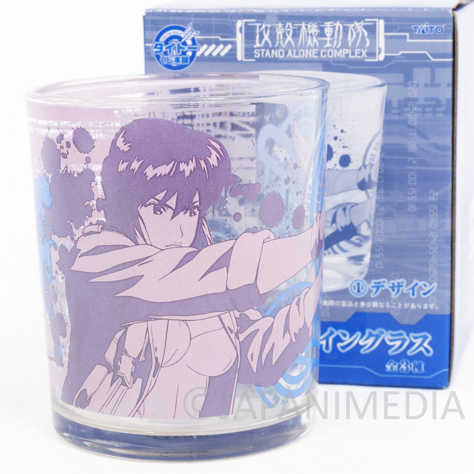 Ghost in the Shell SAC Motoko Kusanagi 2 Art Design Glass Taito JAPAN ANIME