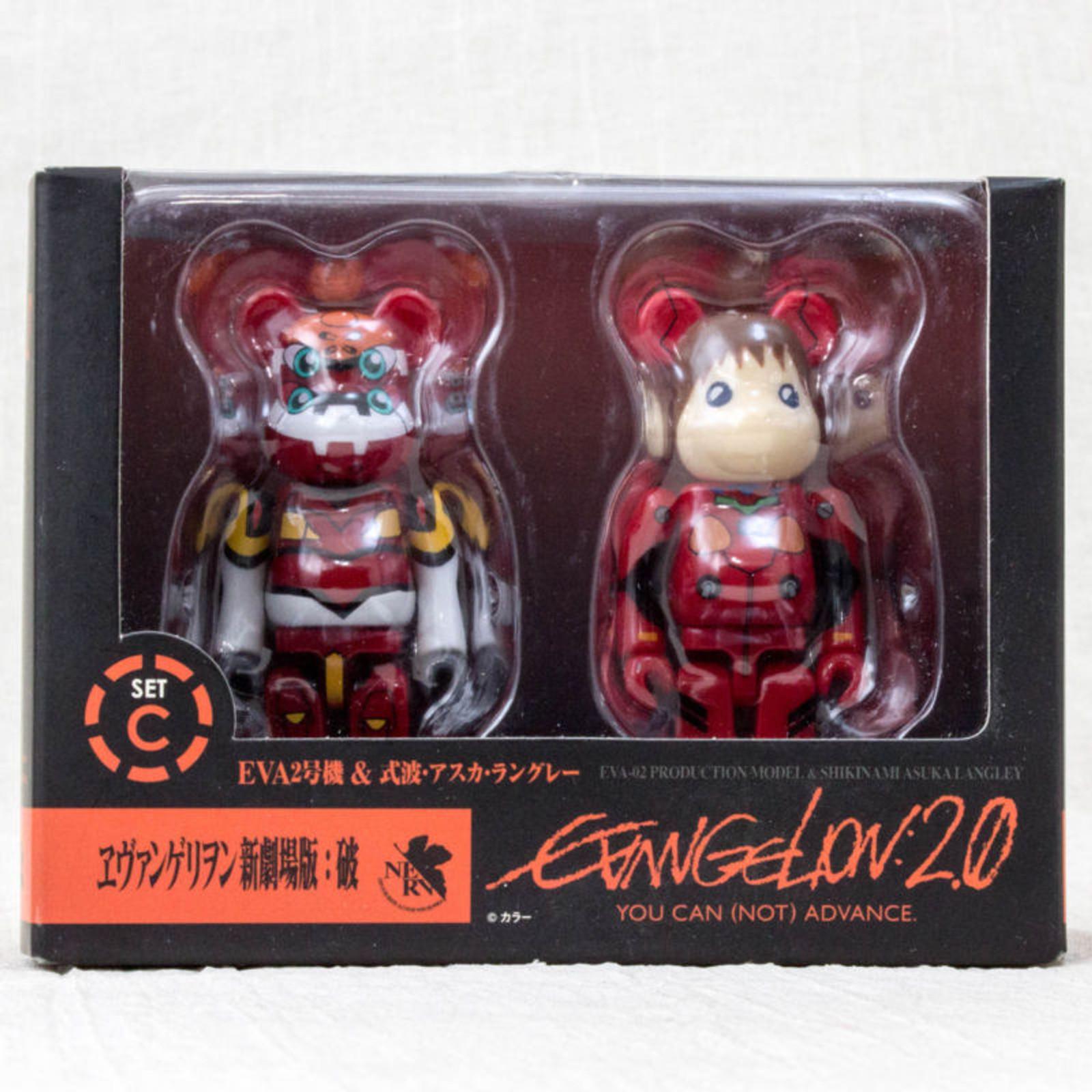 Evangelion:2.0 Be@rbrick Bearbrick Set C Asuka Figure Medicom JAPAN ANIME
