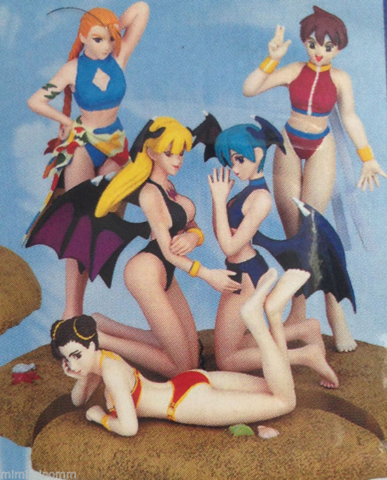 [Set of 5] Street Fighter & Darkstalkers Capcom Character Summer Paradise Figure Another color ver. [Chun-Li / Sakura / Cammy / Morrigan / Lilith] JAPAN GAME