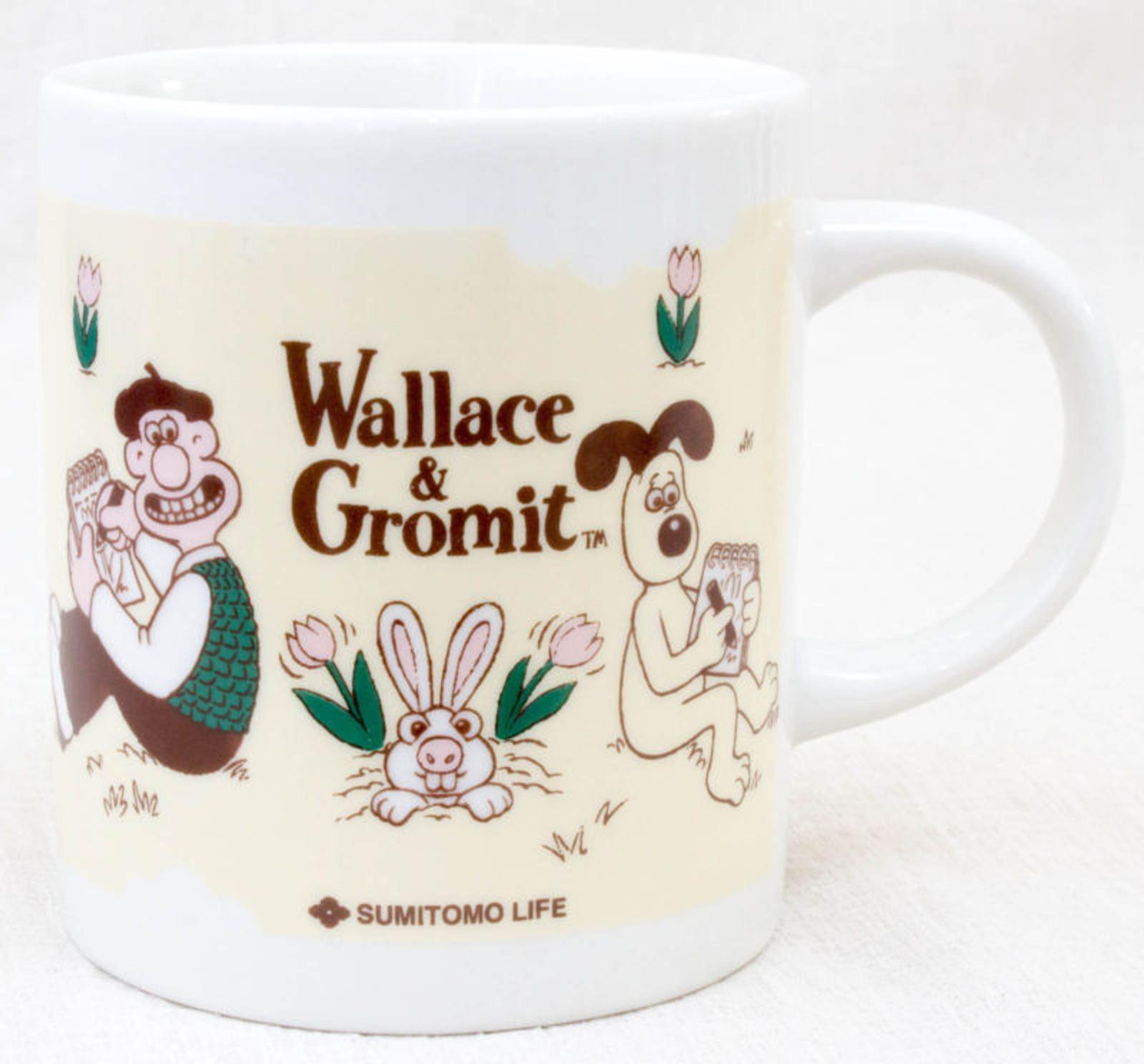 Wallace & Gromit MUG Sumitomo Life Novelty JAPAN Ardman ANIME