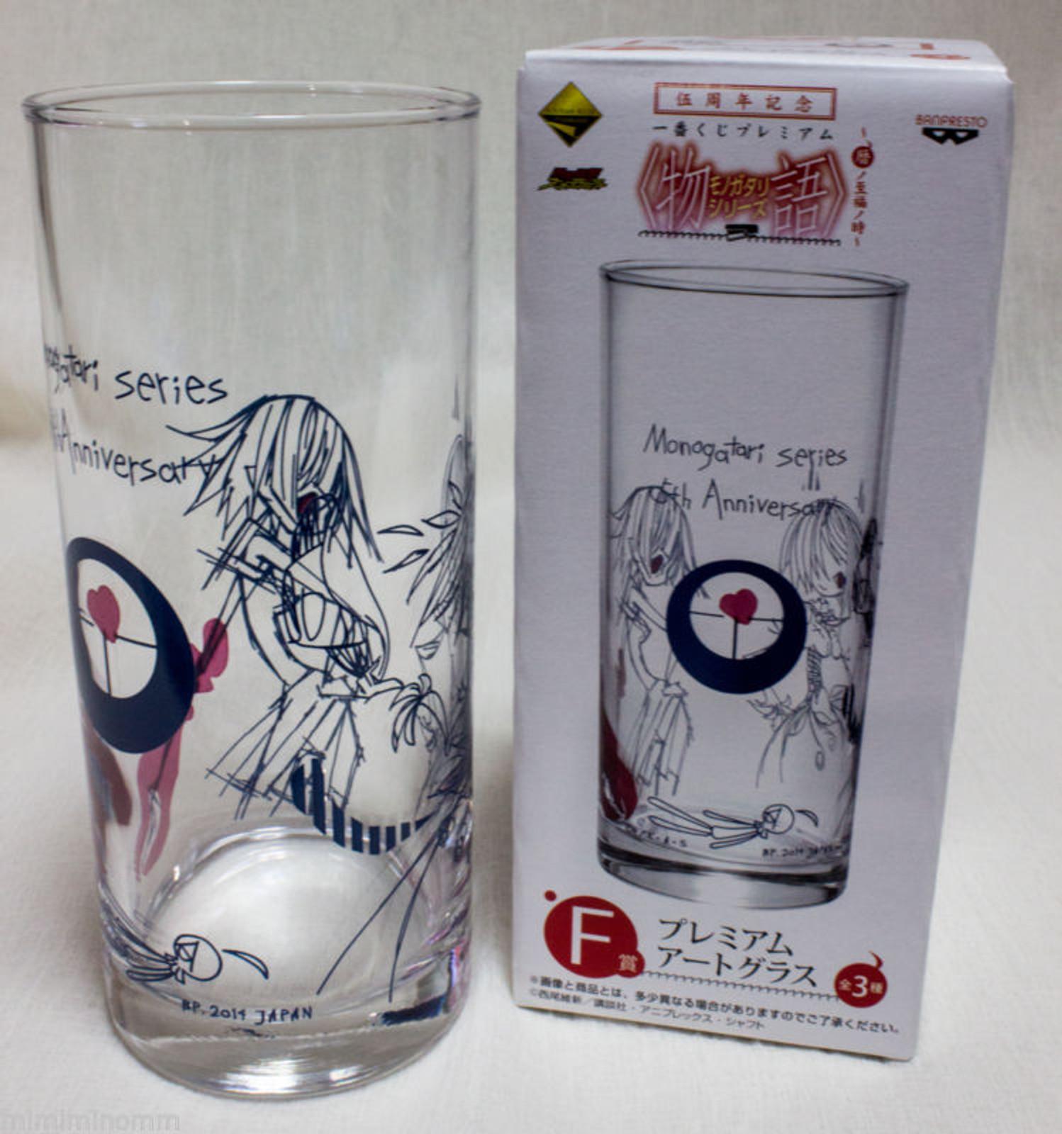Monogatari Series Premium Art Glass 5th Anniversary 2 [ Sueuga / Tsubasa ] JAPAN ANIME