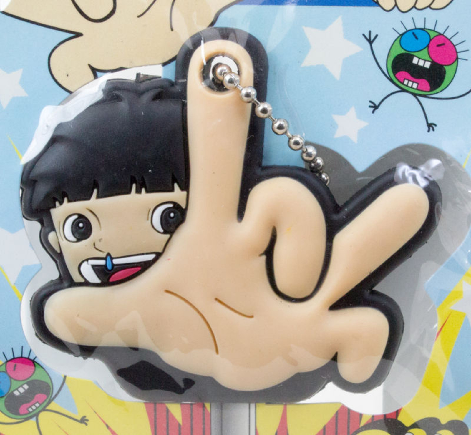Makoto-Chan Guwashi Pose Key Cover Ball Chain Umezu Kazuo JAPAN ANIME MANGA