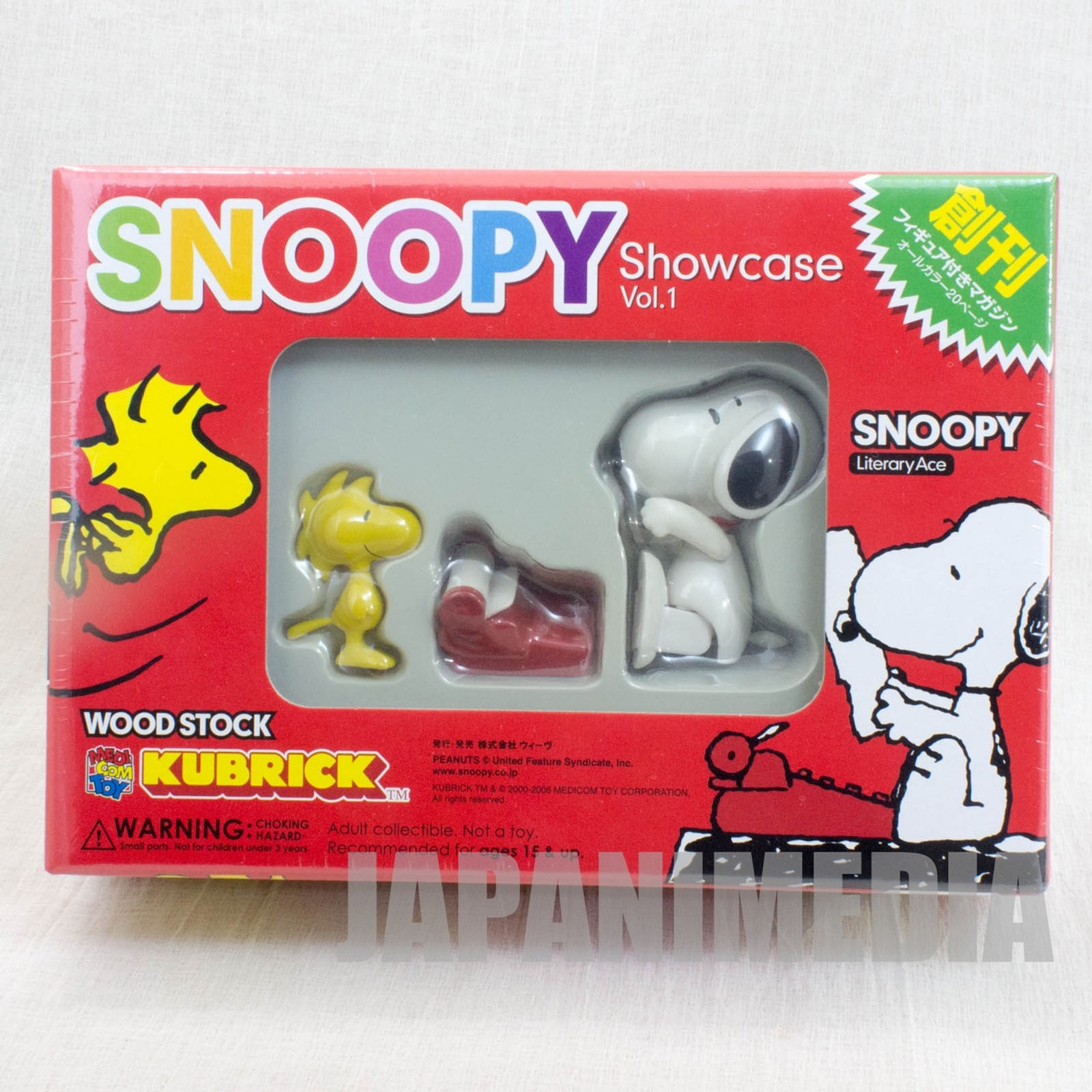 Snoopy Woodstock Kubrick Showcase Vol.01 Medicom Toy Figure JAPAN ANIME