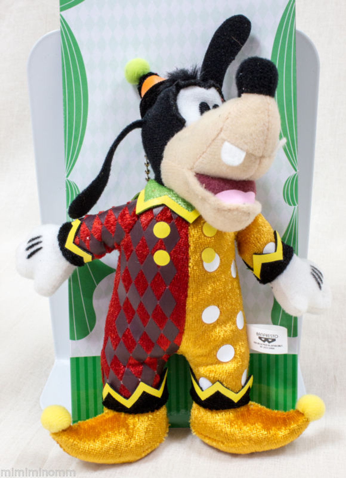 Disney Goofy 6 inch Plush doll with Keycain Mascot Figure Halloween Circus JAPAN