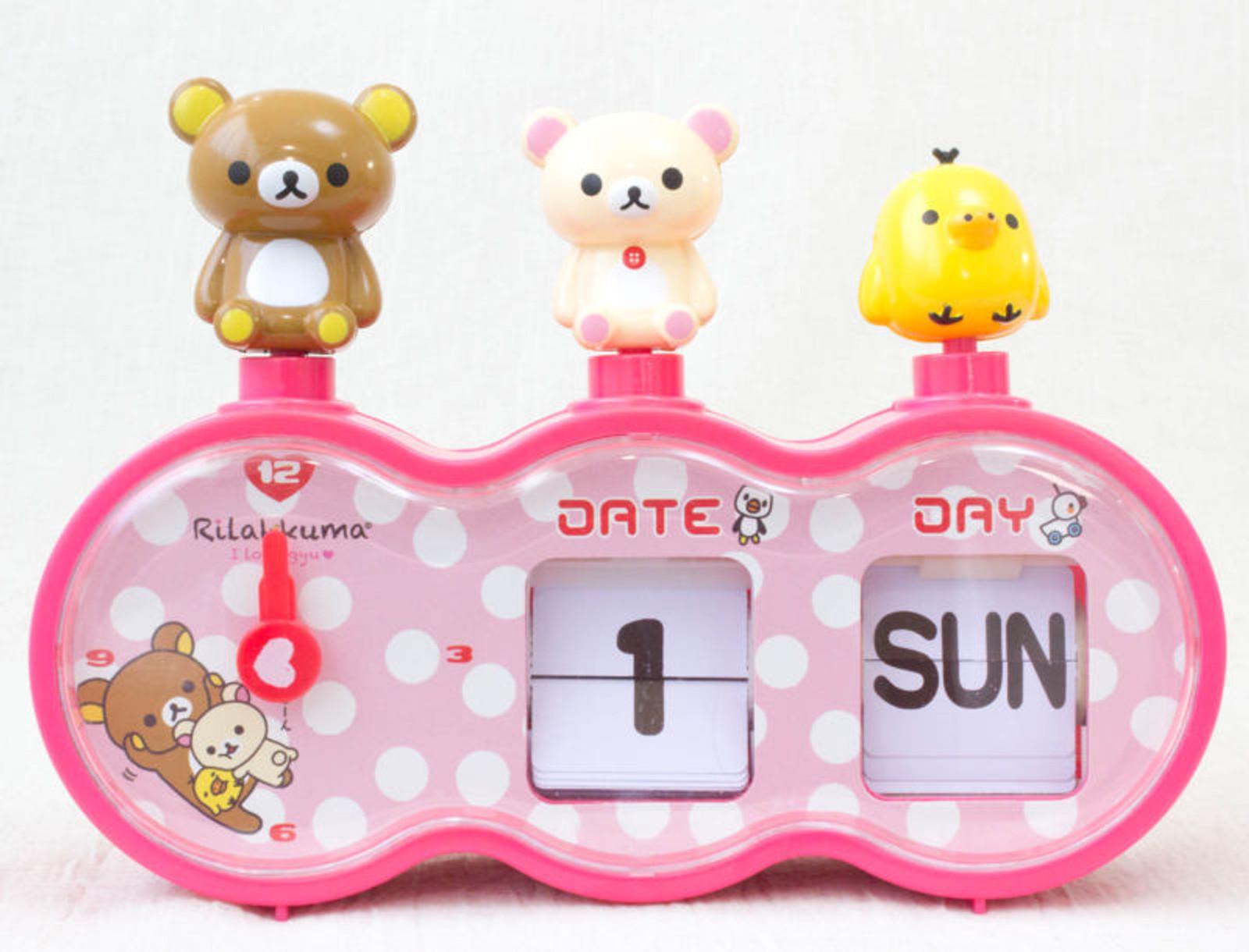 Rilakkuma Pata Pata Calender Alarm Clock Toy JAPAN ANIME MANGA