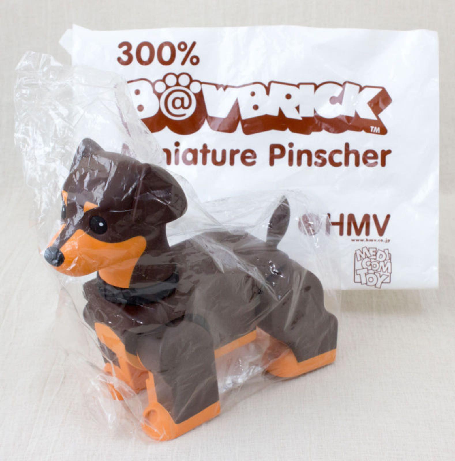 B@WBRICK Bowbrick Miniature Pinscher 300% HMV limited Medicom Toy JAPAN