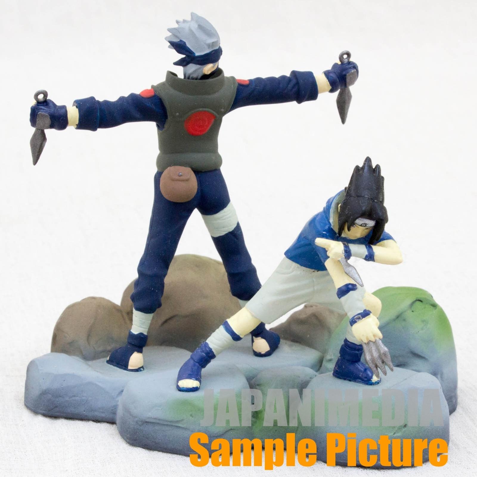 NARUTO Sasuke & Kakashi Polystone Collection Figure Scene N-2 BANDAI JAPAN ANIME