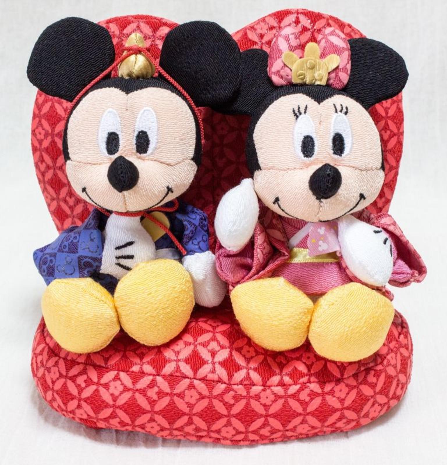 Mickey Mouse Japanese Hina-Matsuri Kimono Plush Dolls set TOMY JAPAN FIGURE