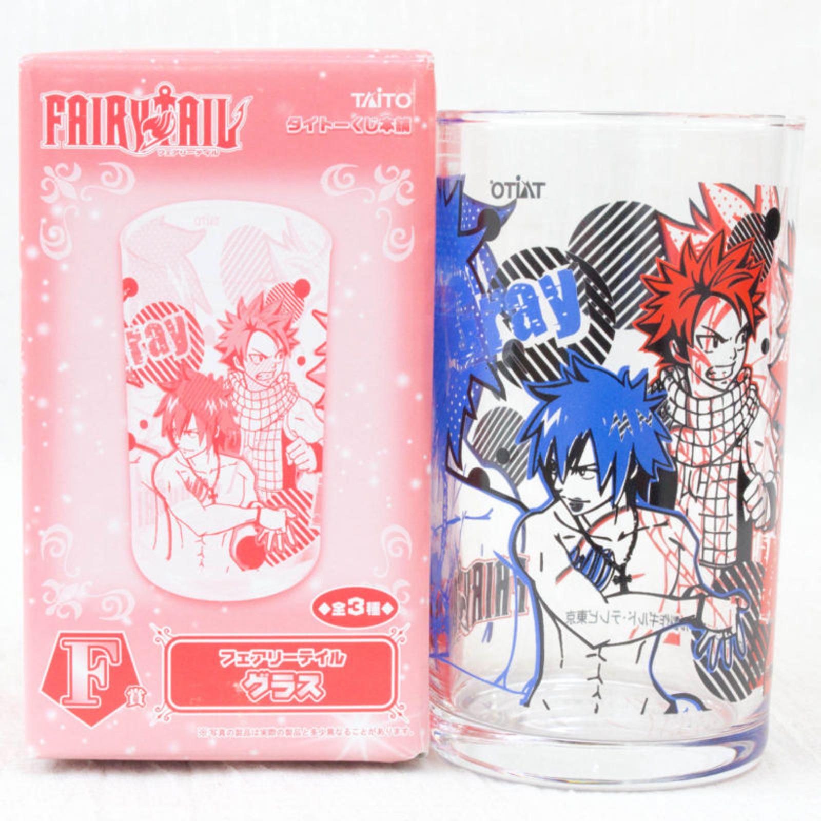 FAIRY TAIL Natsu Gray Visual Art Glass Banpresto JAPAN ANIME MANGA