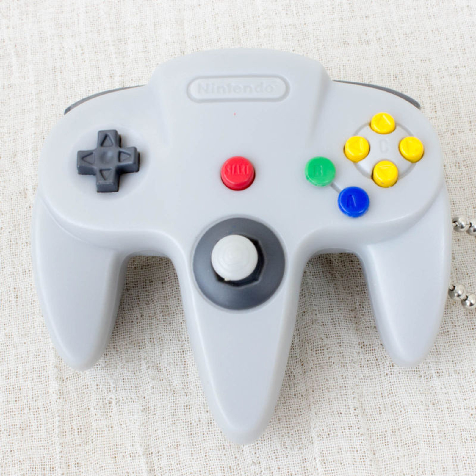 Nintendo Game Controller LED Light Figure Key Chain Nintendo 64 JAPAN